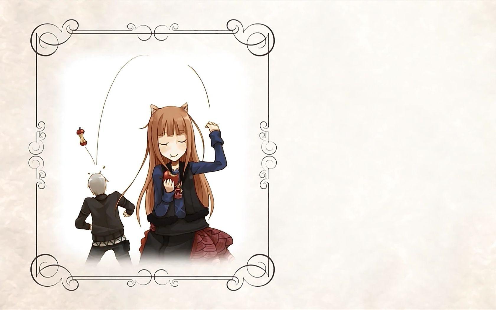 Wallpaper Ilustrasi Anime Gambar Kartun Apel Holo