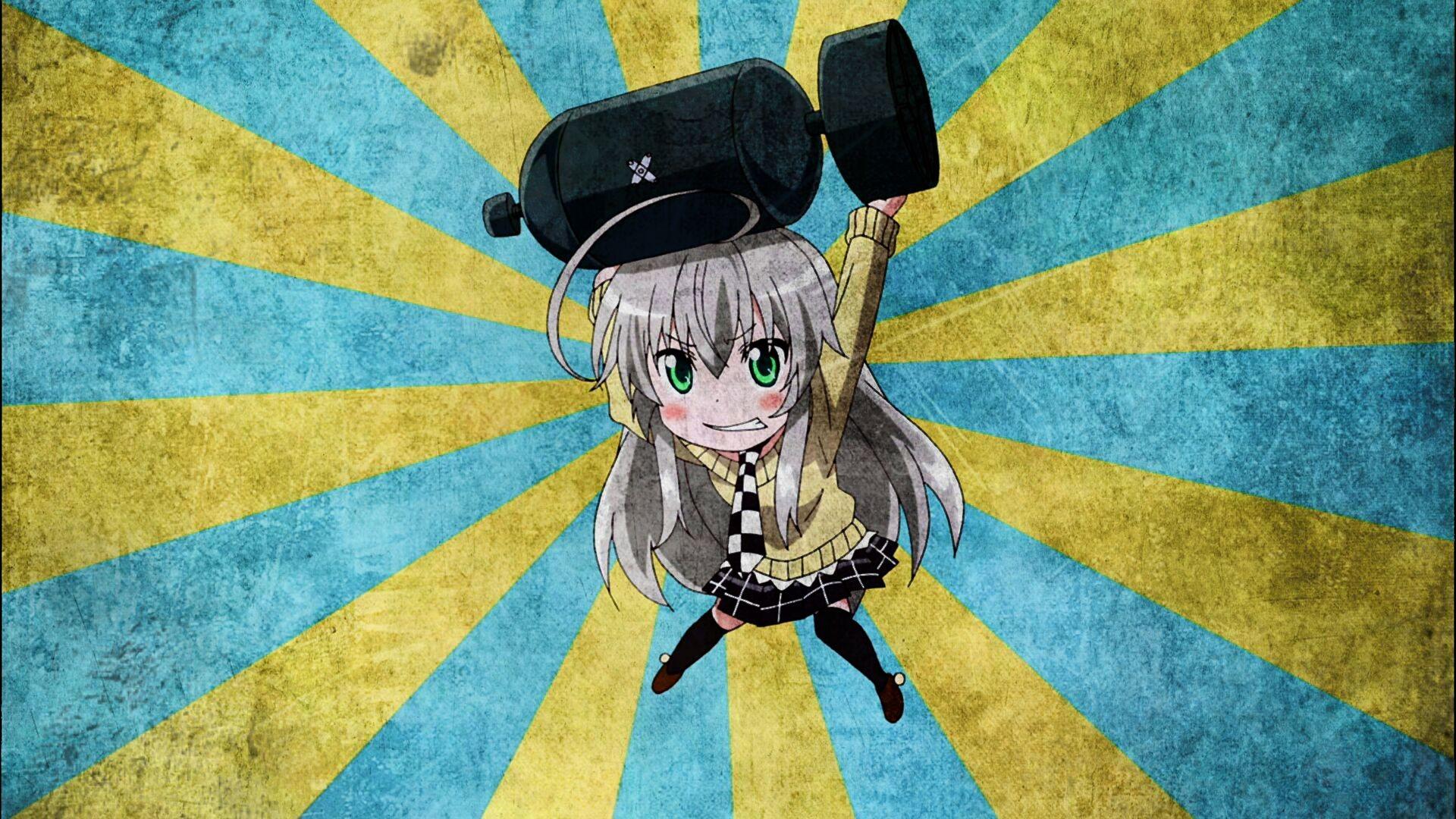 Wallpaper Drawing Illustration Anime Green Eyes Blue