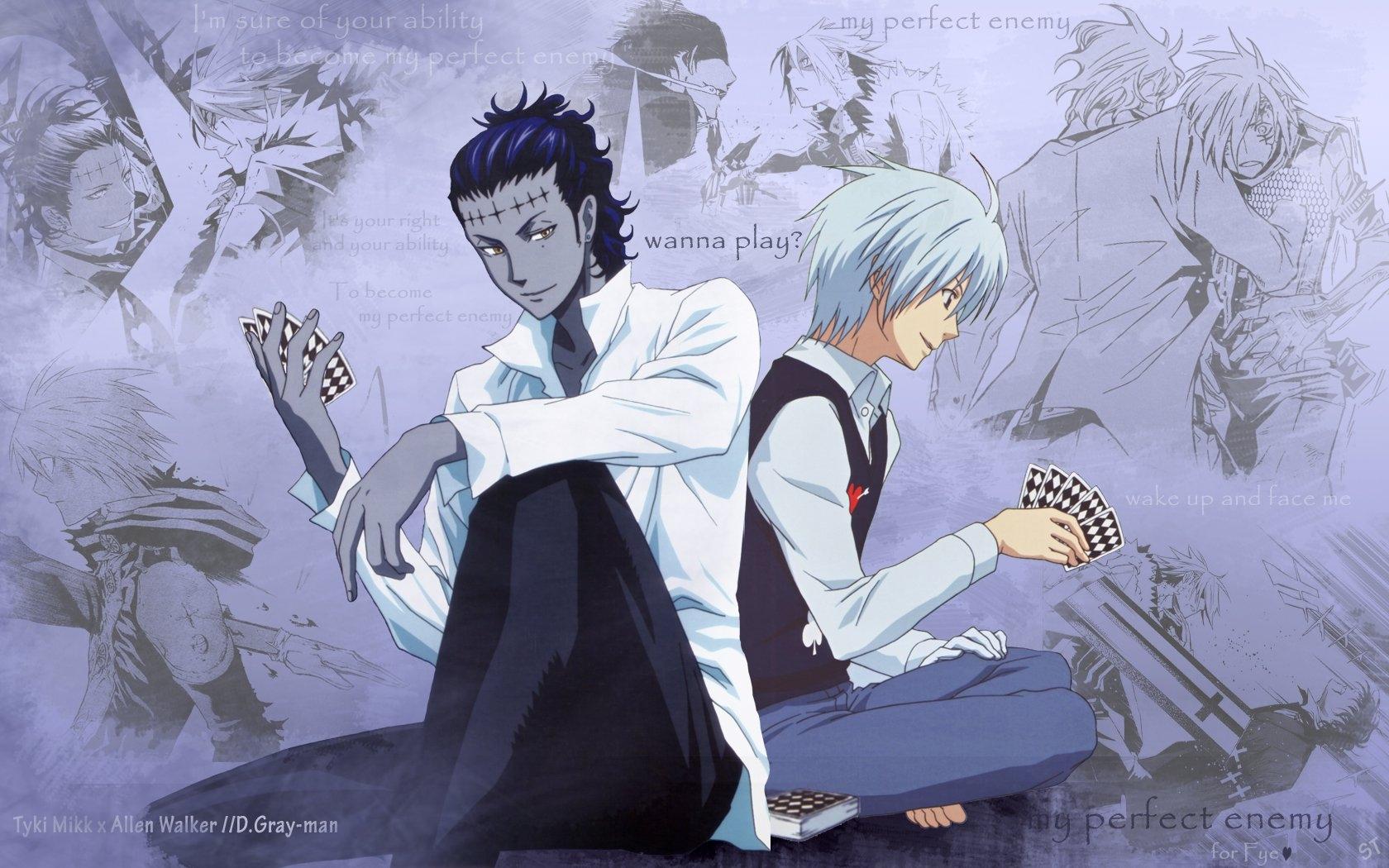 Bản vẽ hình minh họa Anime áo sơ mi quân dai Allen Walker Đàn ông Phác