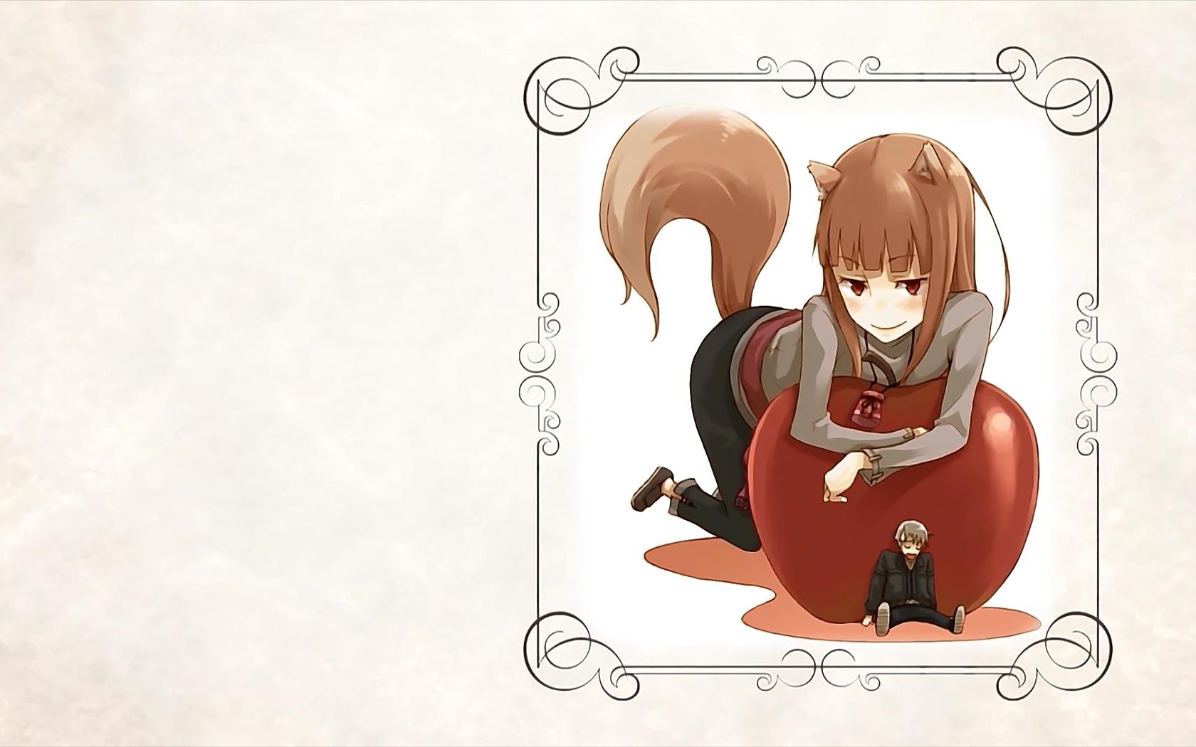 Wallpaper Ilustrasi Anime Ekor Gambar Kartun Apel Gadis