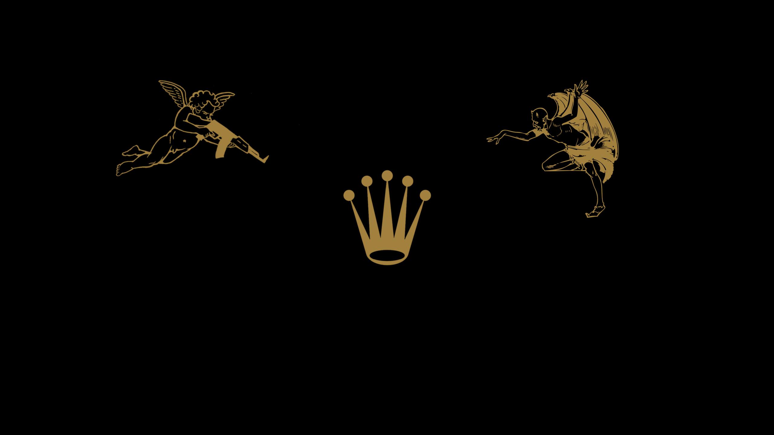 Amazing Rolex Wallpaper - drawing-illustration-black-background-logo-AK-47-Rolex-devils-font-24289 Pictures_712822.png
