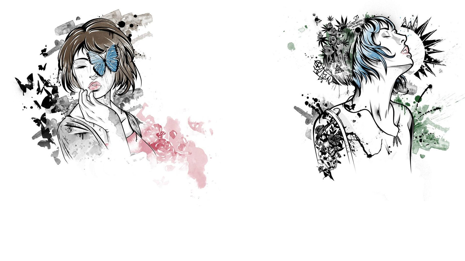 Wallpaper Drawing Illustration Cartoon Max Caulfield Life Is