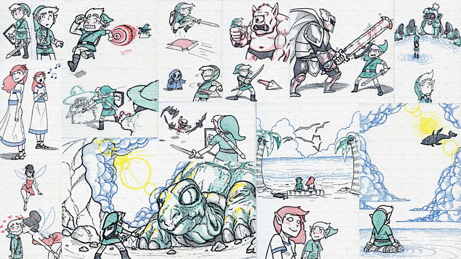 Wallpaper Drawing Illustration Cartoon The Legend Of Zelda