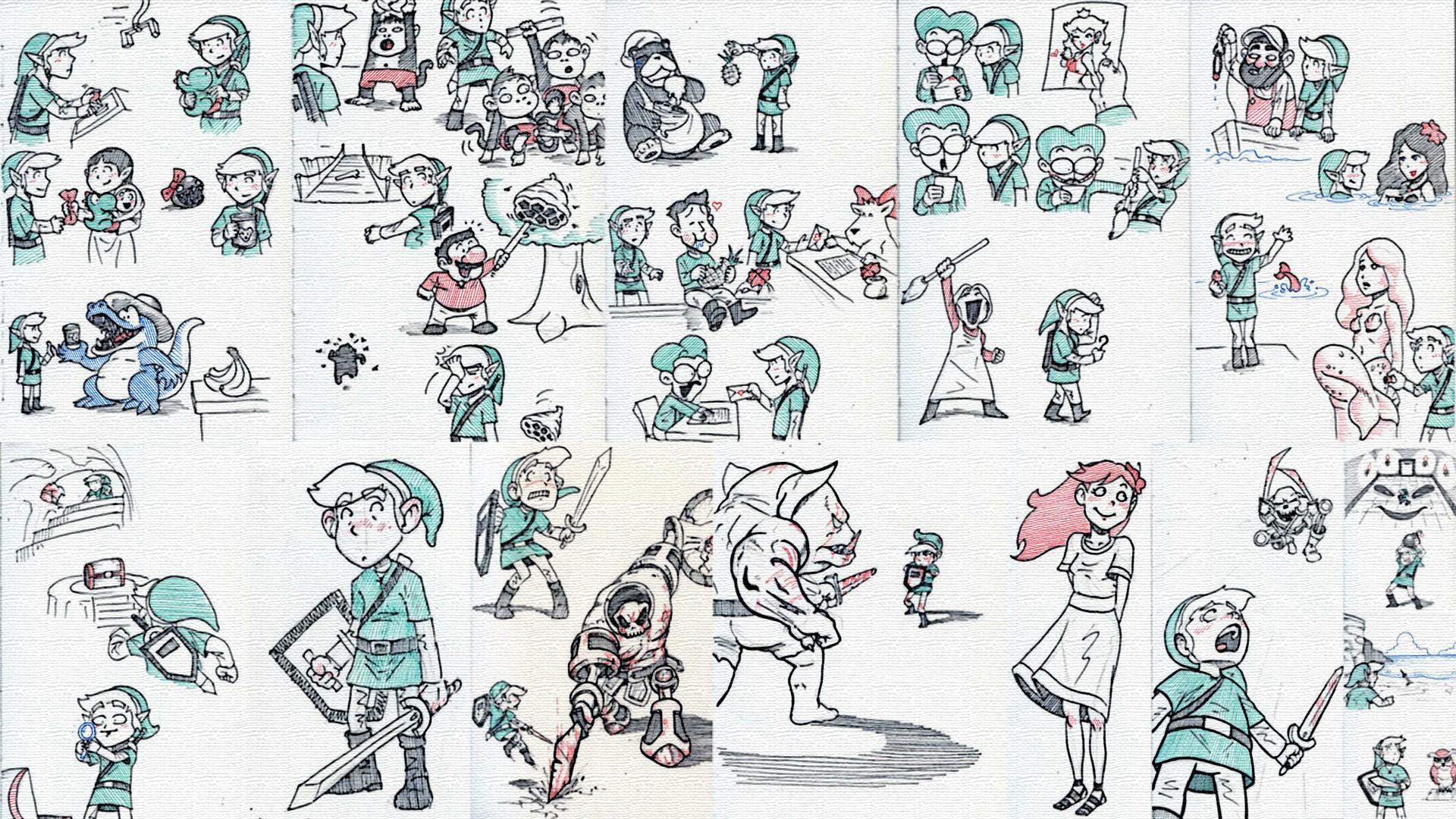 Wallpaper Drawing Illustration Cartoon Pattern The Legend Of
