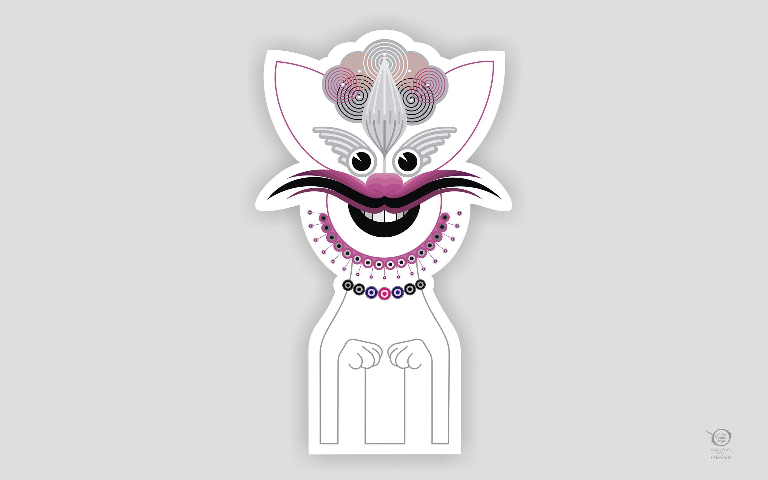 Wallpaper Ilustrasi Kucing Logo Gambar Kartun Sketsa
