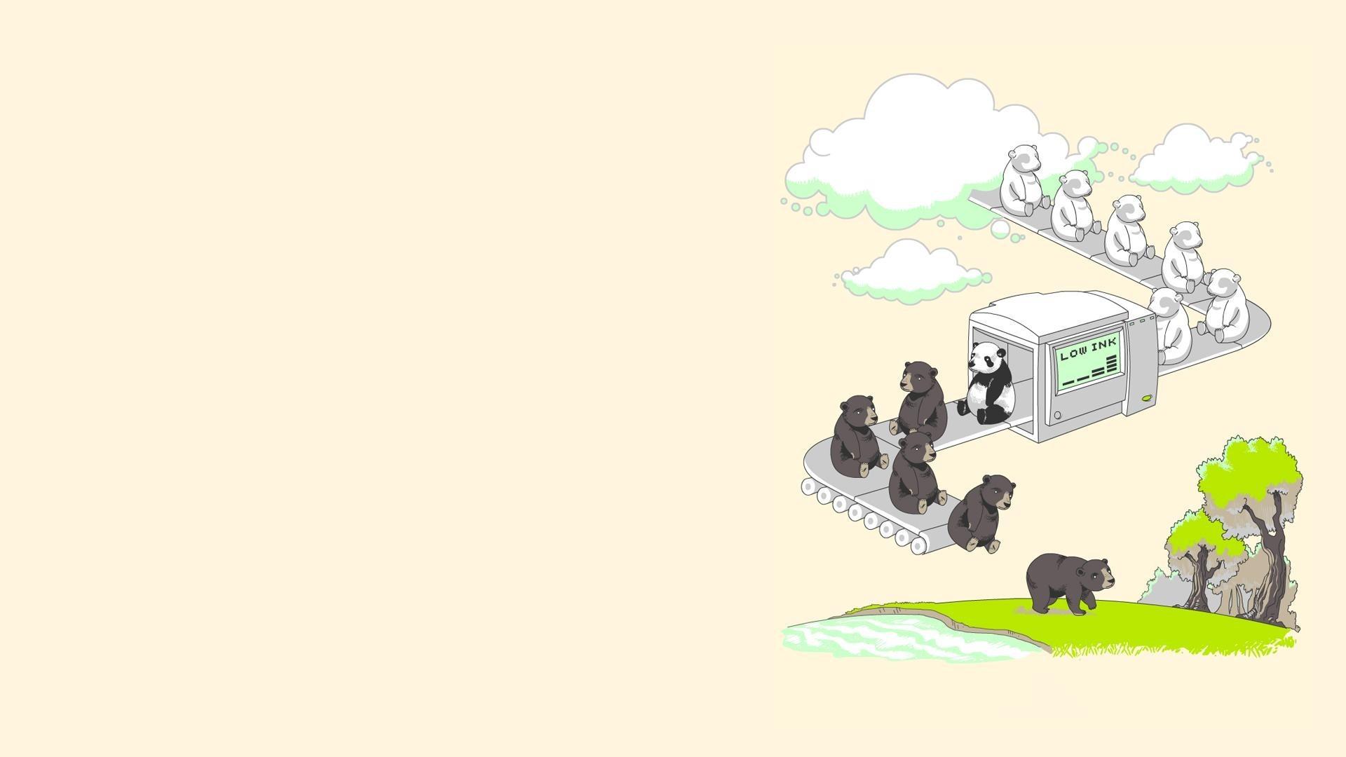 Fond Décran Illustration Art Numérique Animaux Fond