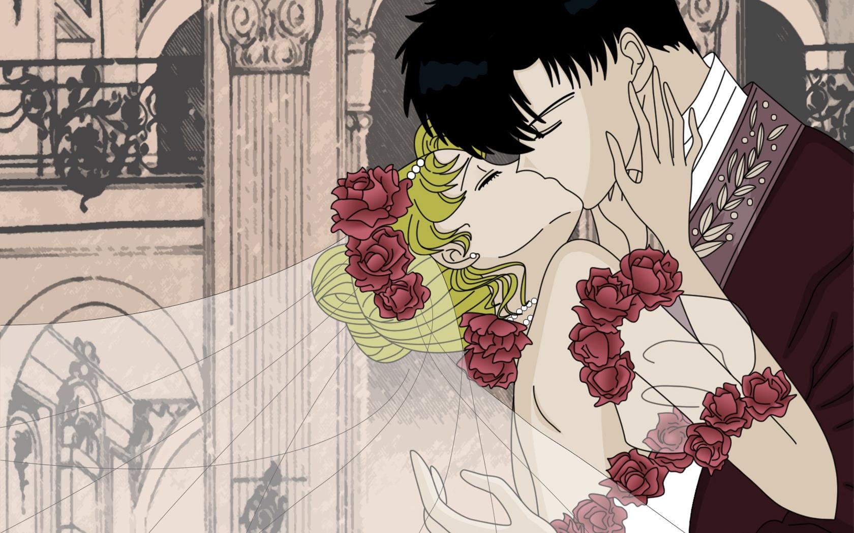 Wallpaper Ilustrasi Bunga Bunga Anime Gambar Kartun Komik