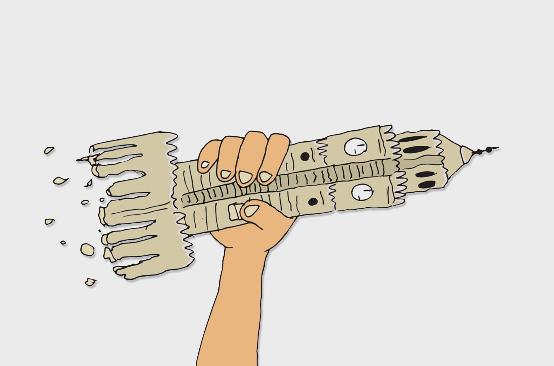 Masaüstü çizim Illüstrasyon Gitar Karikatür Saat Kulesi Izmir