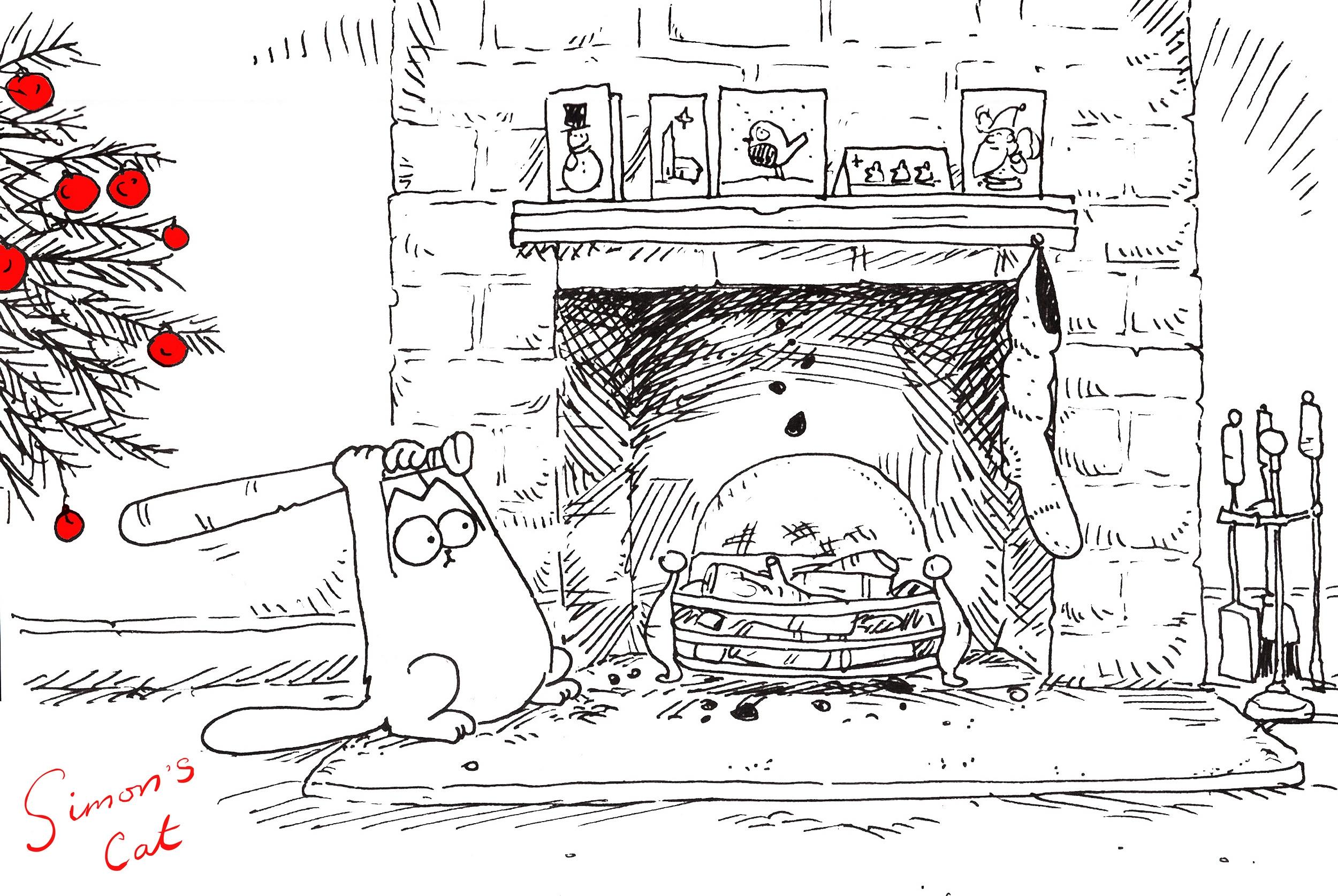 сообщил поздравление на новый год рисунок карандашом котики машкова фото
