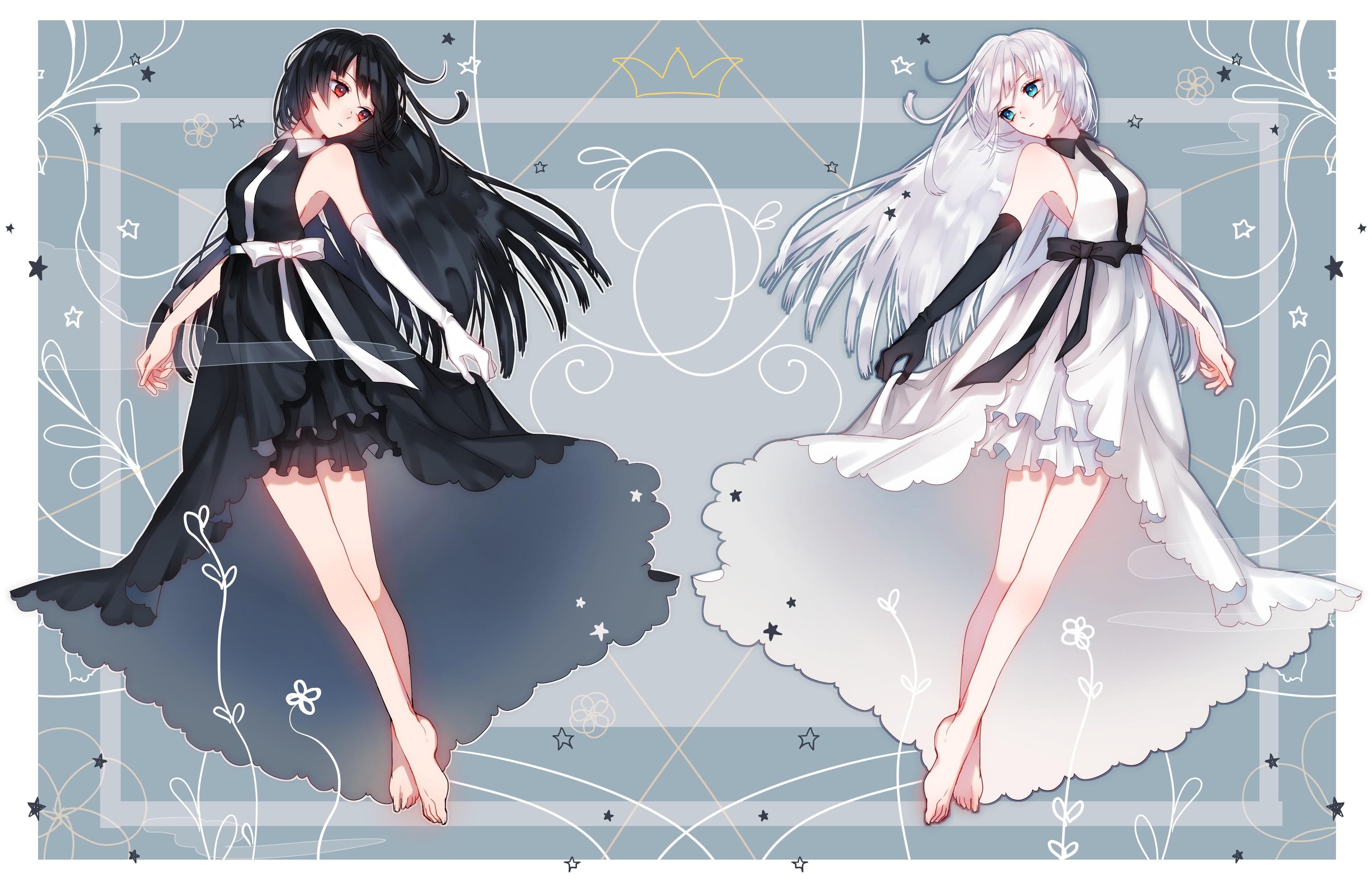 wallpaper drawing illustration long hair anime girls