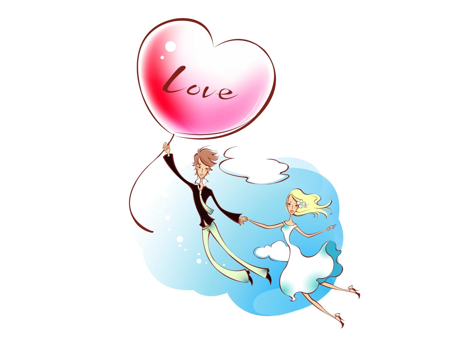 Sfondi disegno illustrazione amore cuore cartone