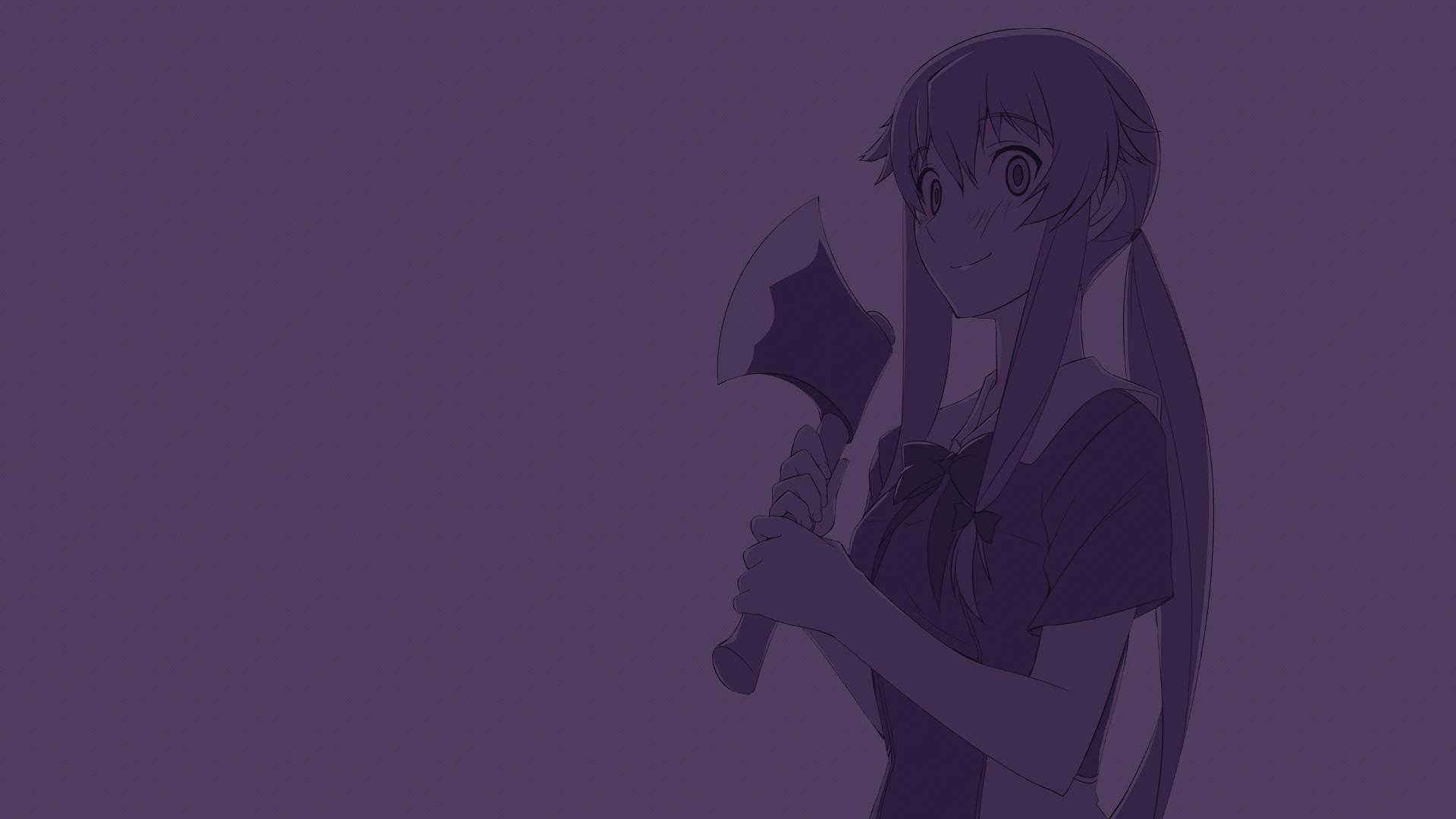 Drawing Illustration Monochrome Anime Girls Mirai Nikki Gasai Yuno Yandere Hand Sketch Screenshot Black And