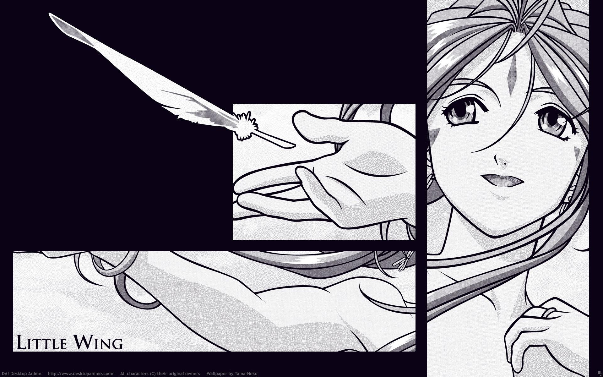 Fond Décran Illustration Monochrome Filles Anime Manga