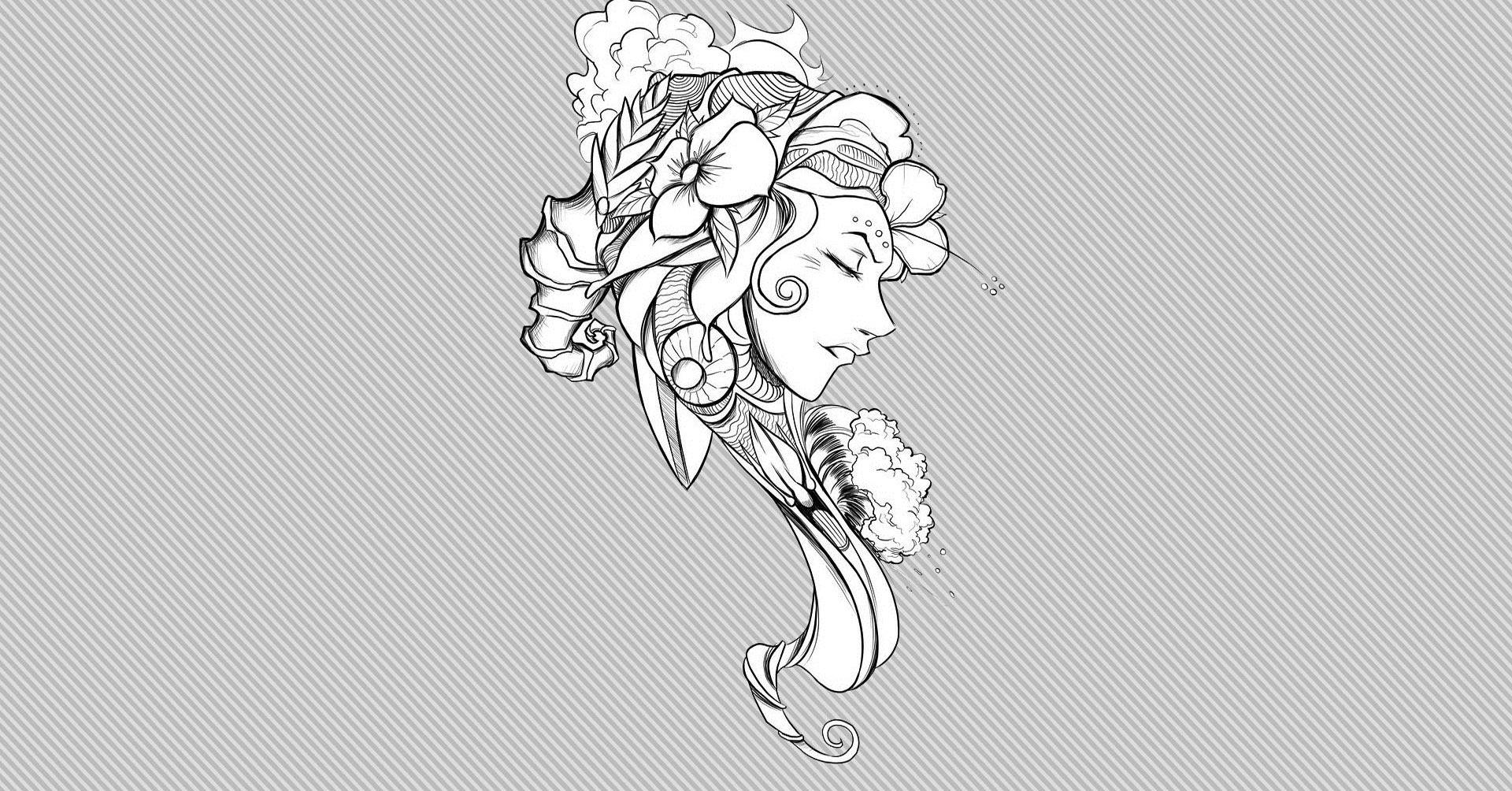 Wallpaper Drawing Artwork Line Art Graphic Design