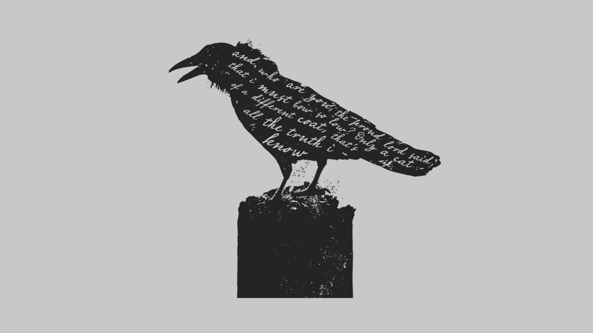 Drawing Illustration Monochrome Cartoon Raven Pattern Sculpture Nevermore ART Design 1920x1080 Px