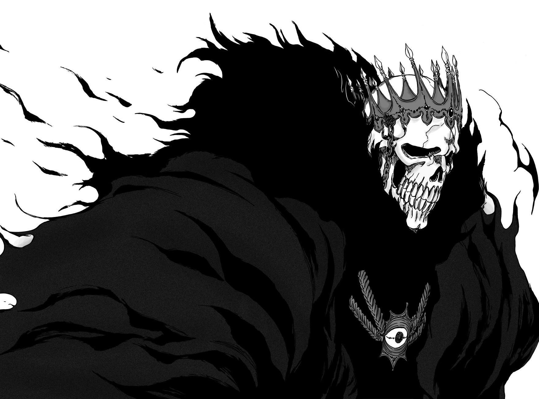 Drawing Illustration Monochrome Manga Cartoon Death Demon Bleach Espada Barragan Luisenbarn Sketch Black And White