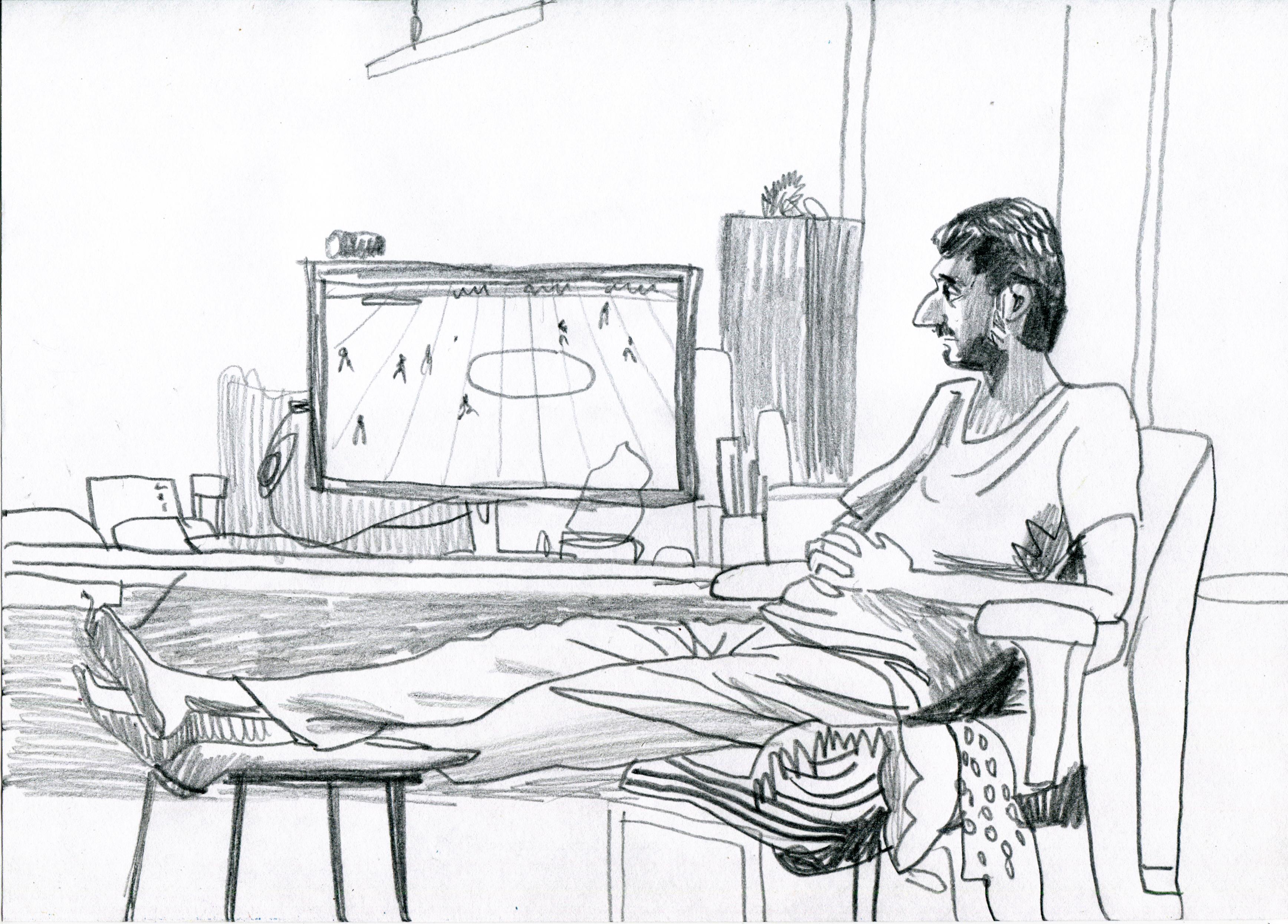 Papel de parede desenhando ilustração monocromático