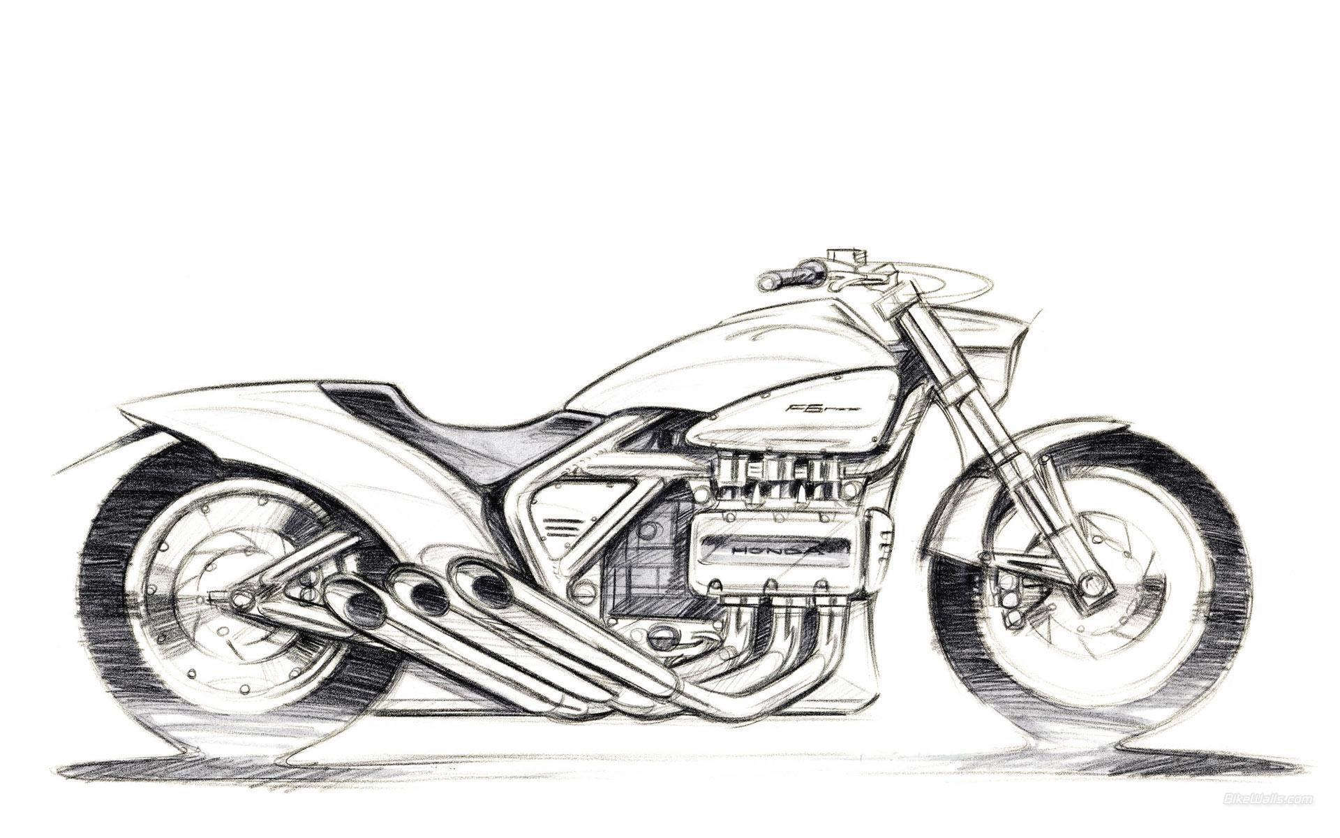 Hintergrundbilder : Zeichnung, Illustration, Motorrad, Fahrzeug ...
