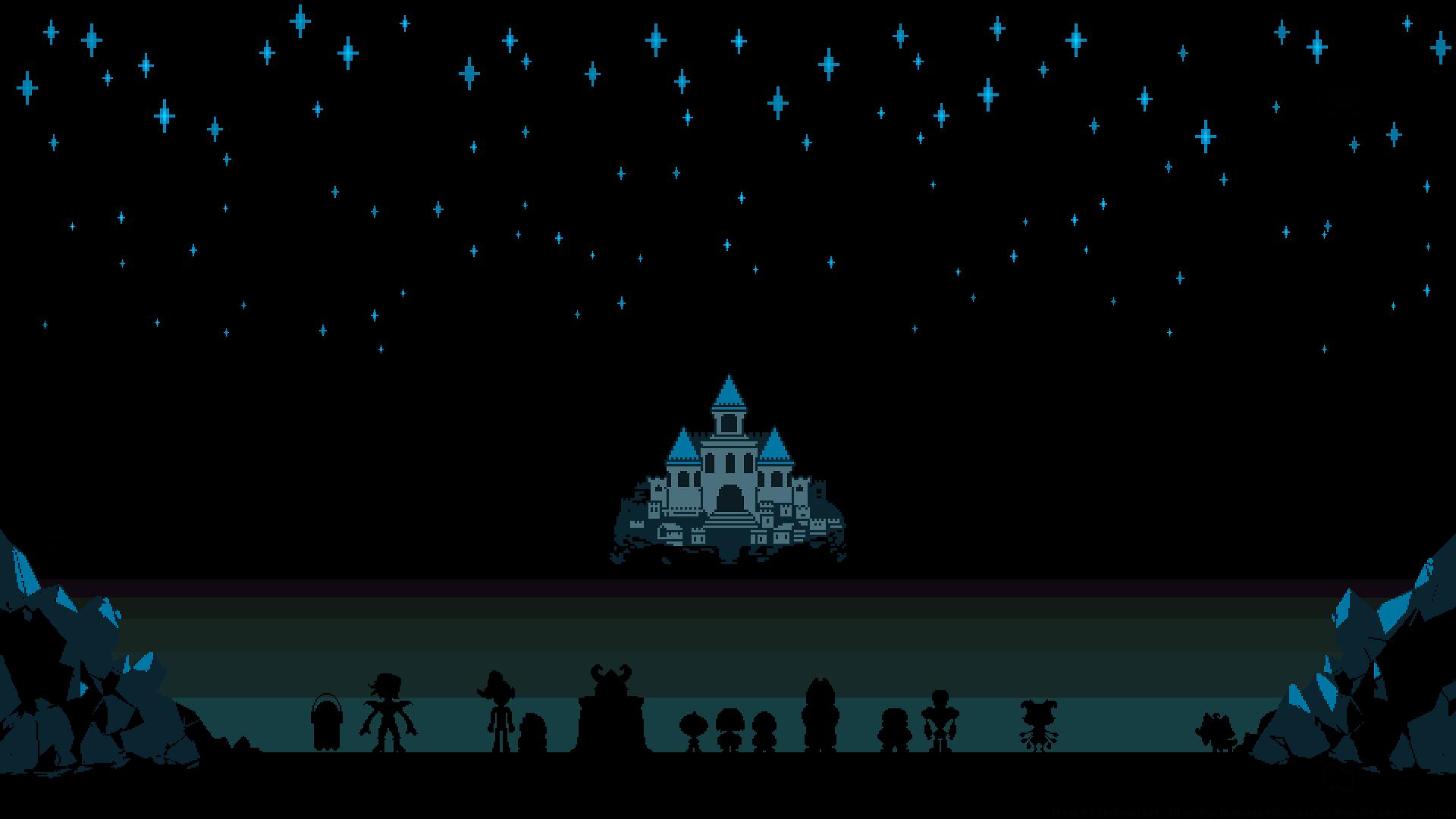 Fond Décran Dessin Illustration Nuit Pixel Art Ciel