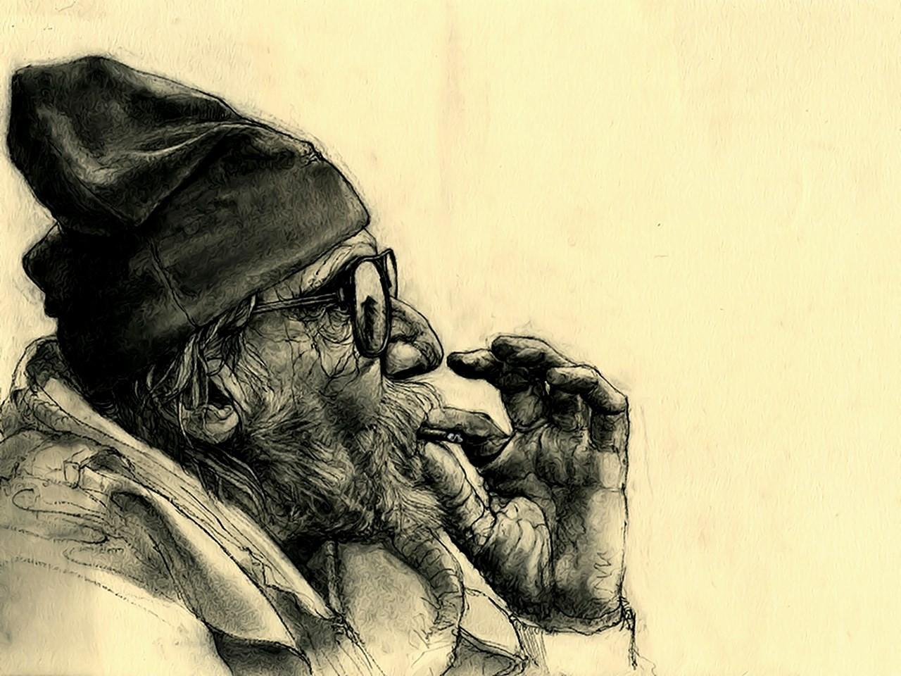 картинка старик с сигарой эту