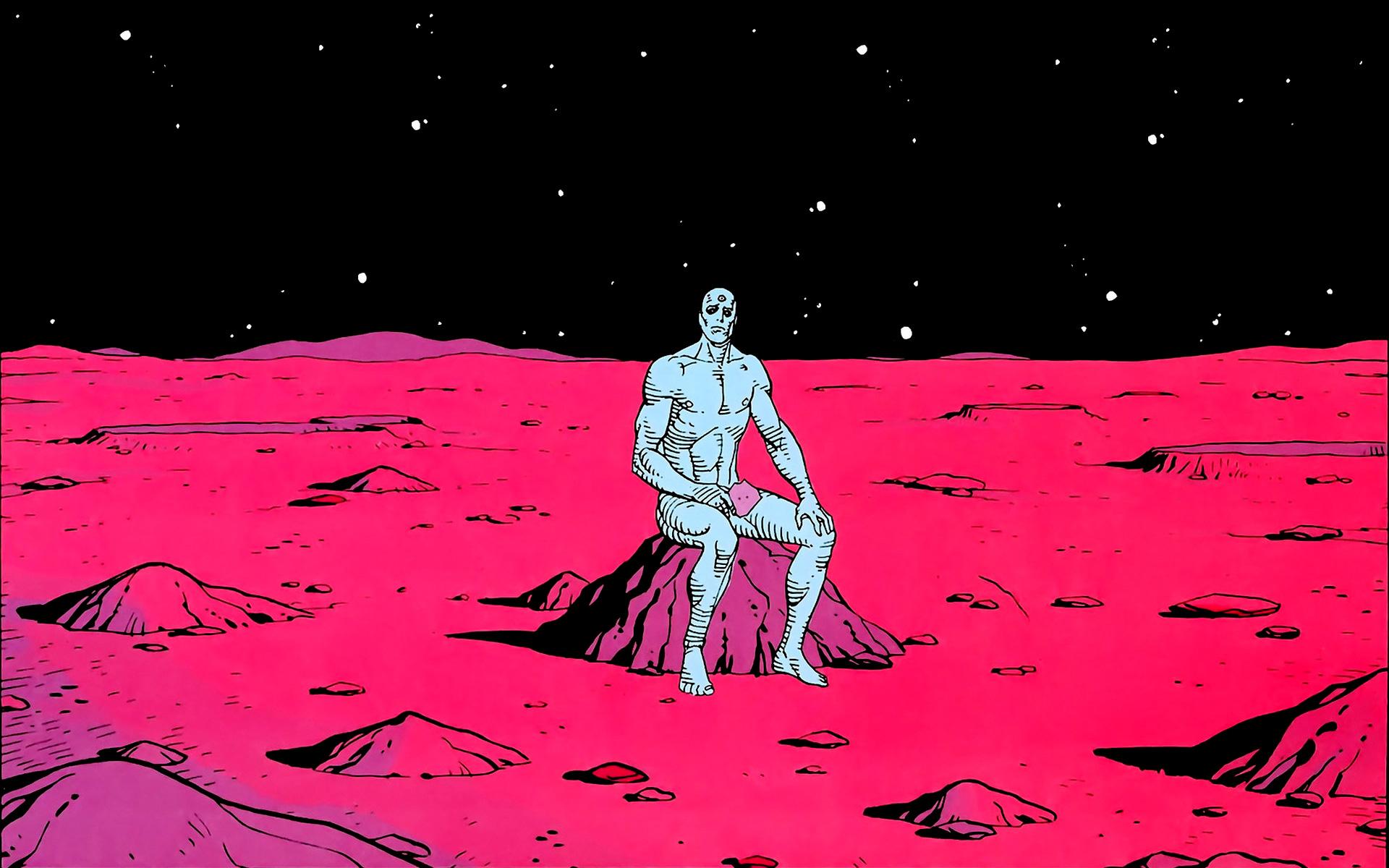 Drawing illustration red superhero alone silver surfer marvel geological phenomenon