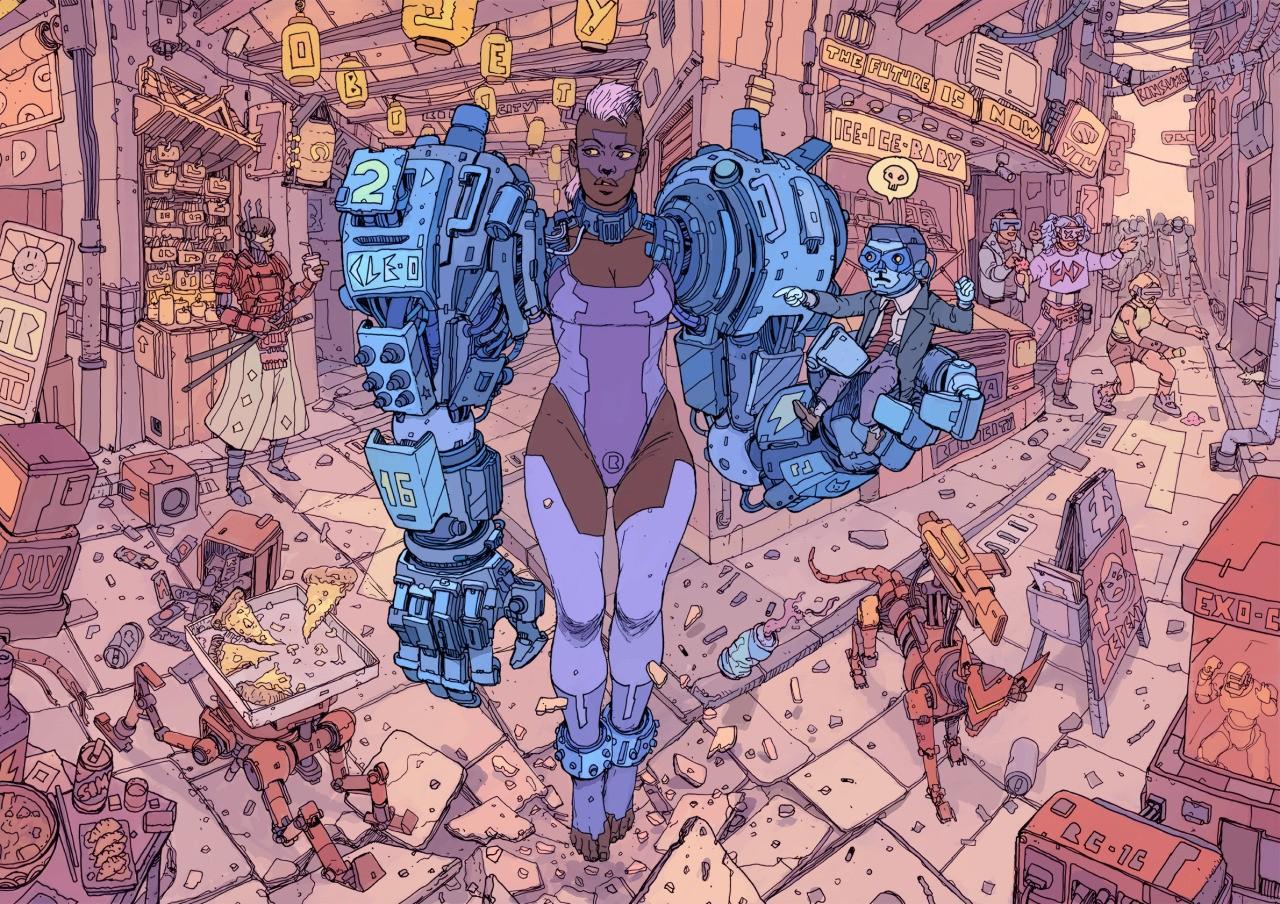 Sfondi disegno illustrazione robot opera d arte