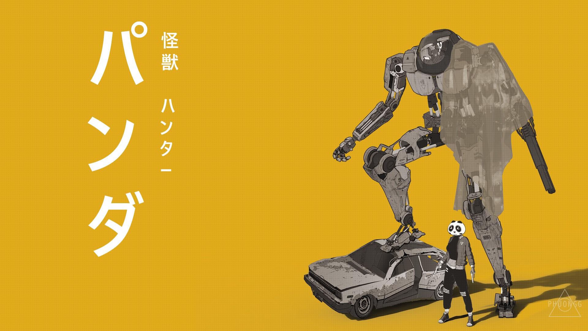 Sfondi disegno illustrazione robot manga giallo cartone