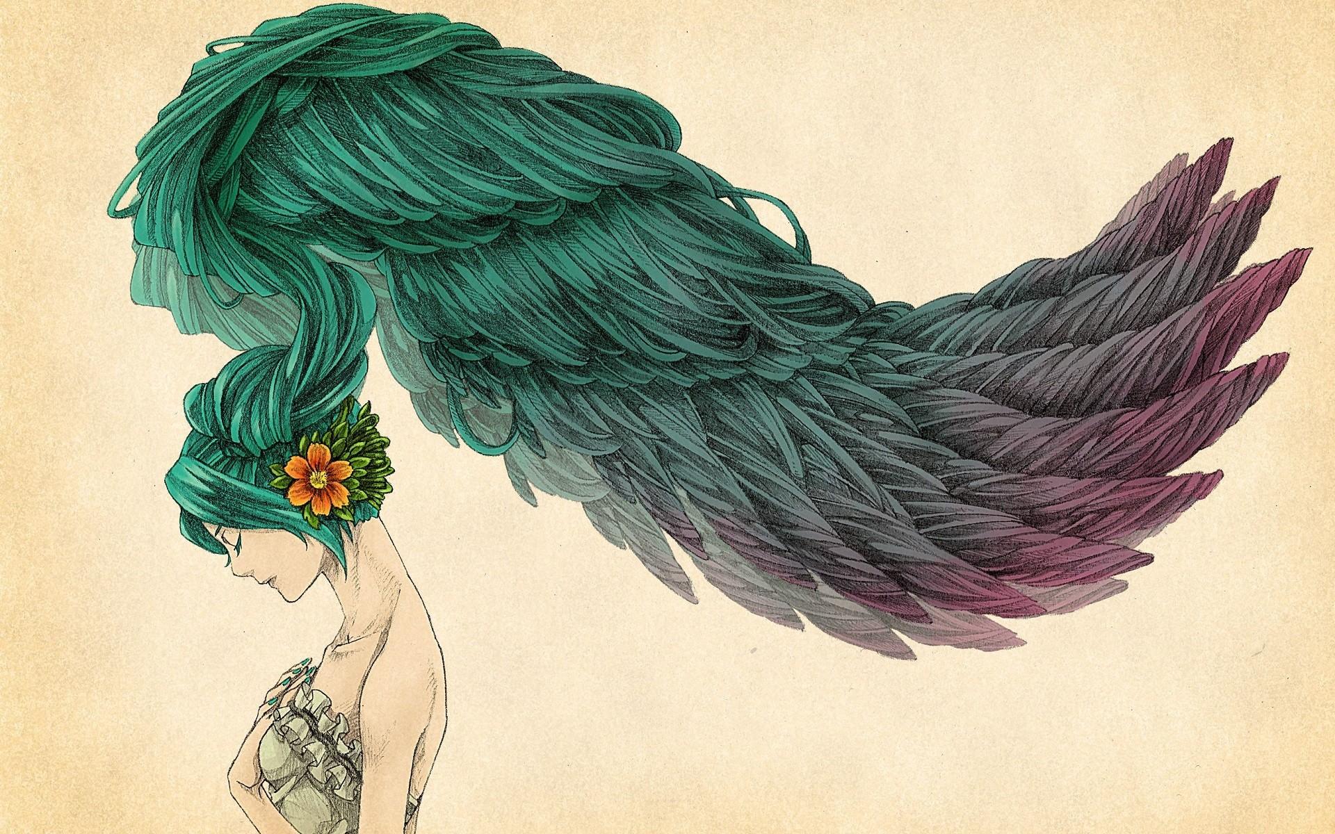Fondos de pantalla : dibujo, ilustración, mujer, Arte fantasía ...