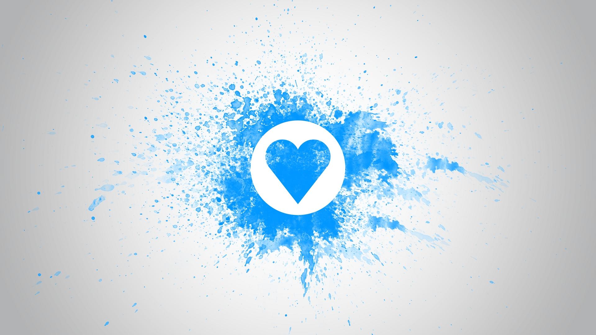 Wallpaper Drawing On Wall Chalk Blue White Heart Love