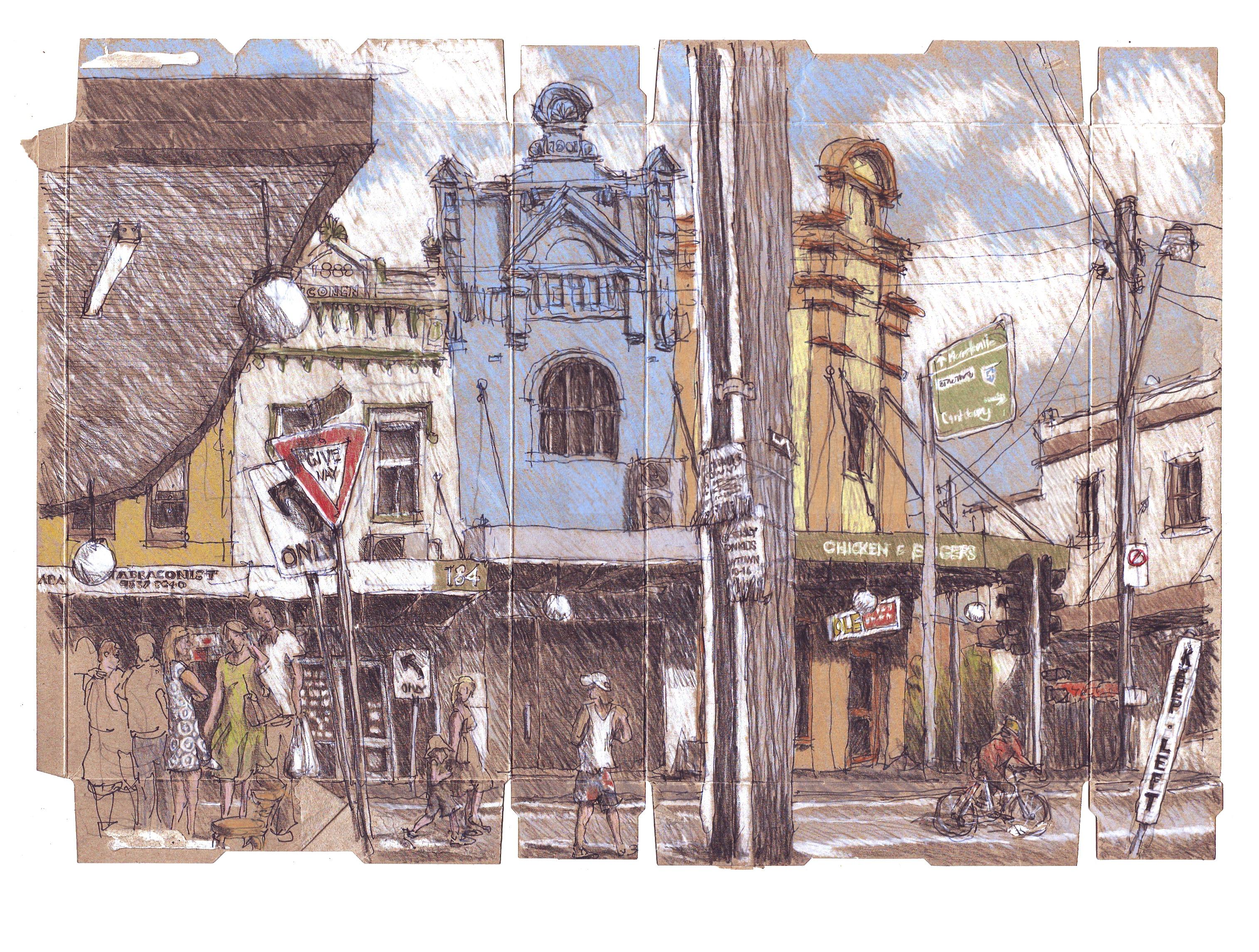 Wallpaper Drawing Painting London Street Lines Australia