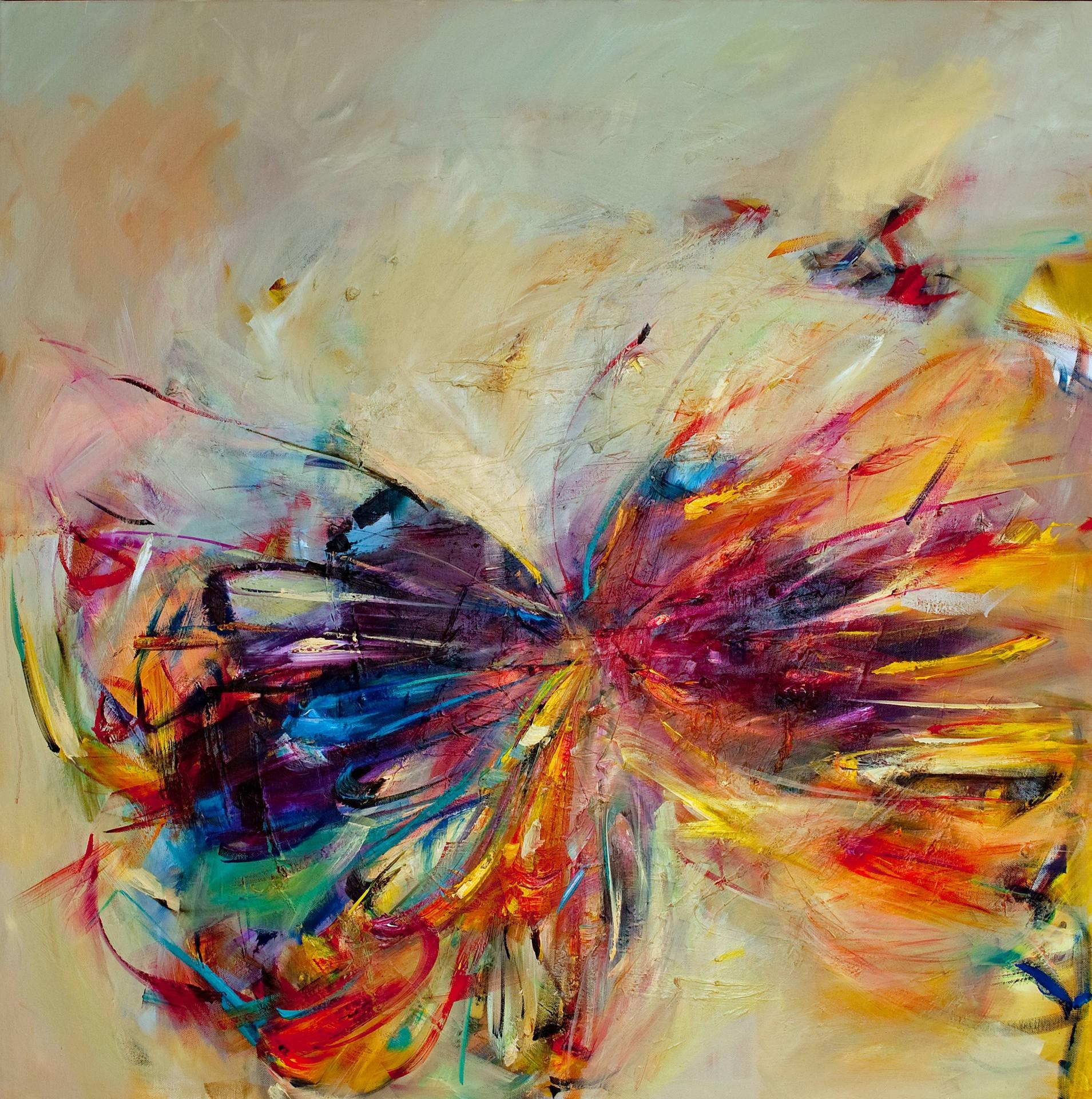 Wallpaper Gambar Lukisan Abstrak Karya Seni Warna