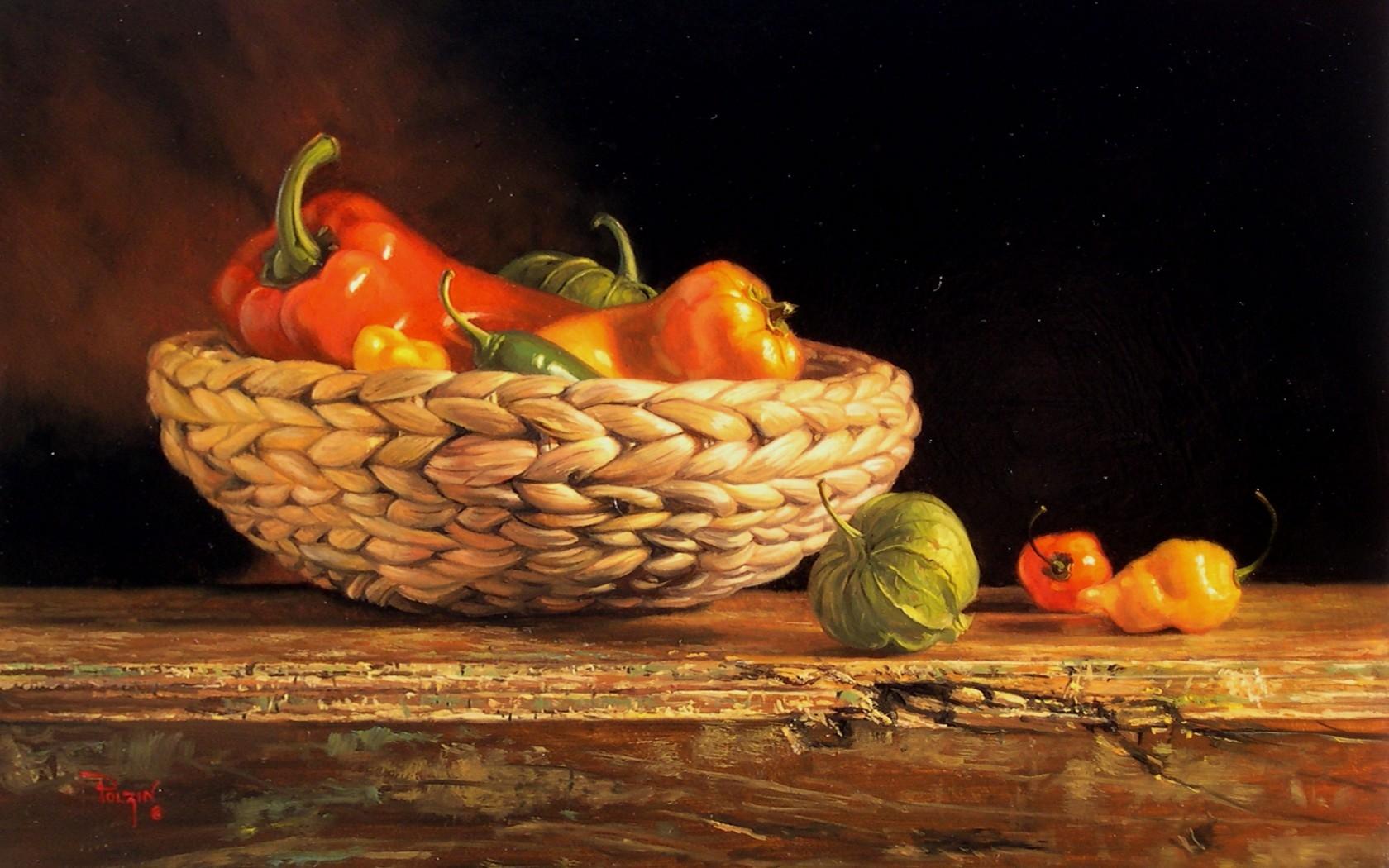Masaustu Cizim Boyama Gida Resim Tablo Sebzeler Meyve