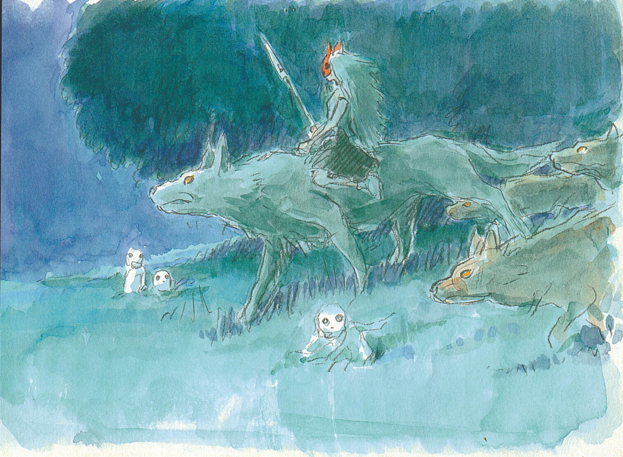 Wallpaper Drawing Painting Illustration Artwork Princess Mononoke Studio Ghibli Ashitaka Material Sketch Wind Wave Acrylic Paint Watercolor Paint 2171x1594 Miragrok 180228 Hd Wallpapers Wallhere