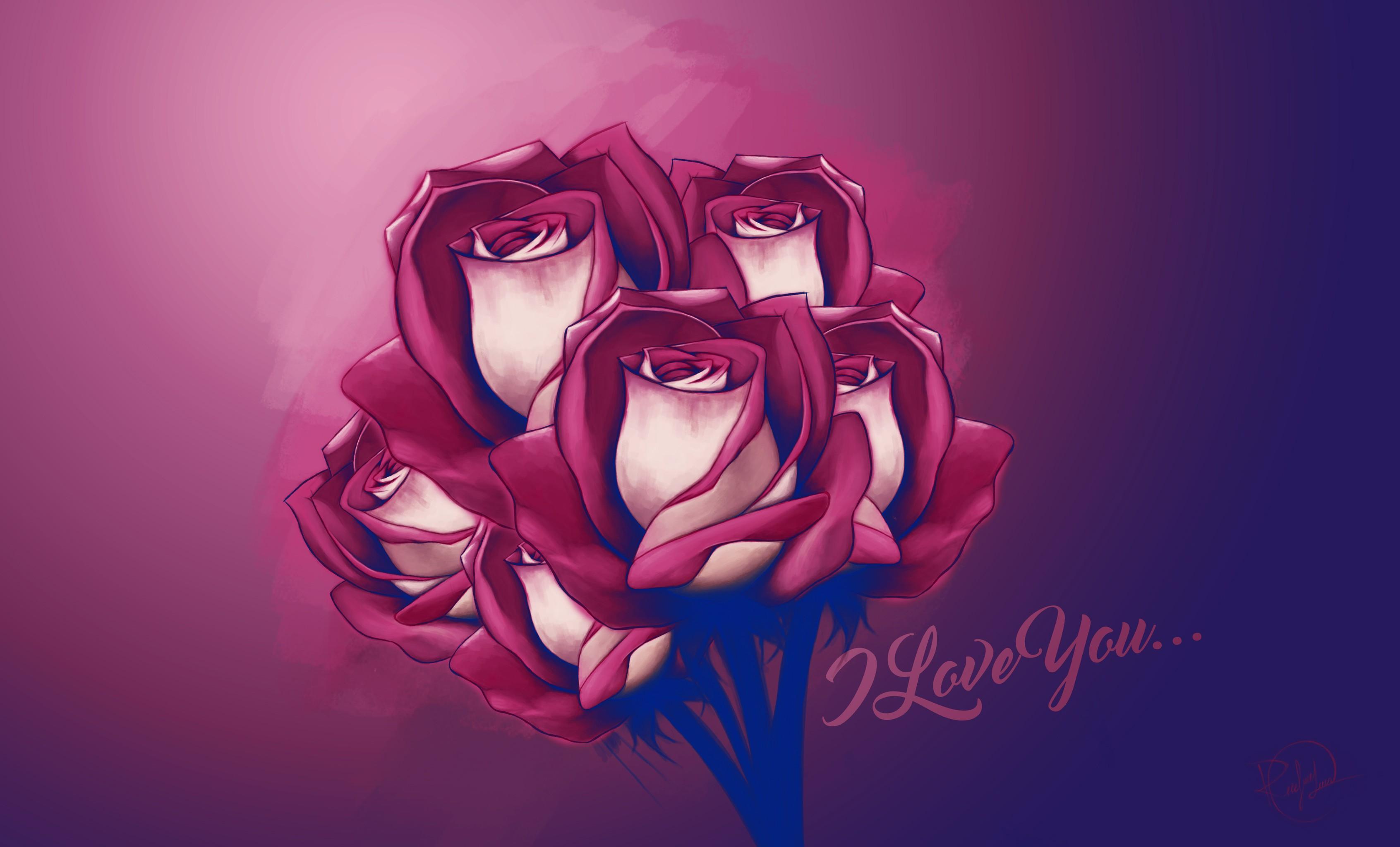 Popular Wallpaper Love Painting - drawing-painting-illustration-digital-art-flowers-anime-love-rose-flower-computer-wallpaper-font-organ-33481  Gallery_433354.jpg