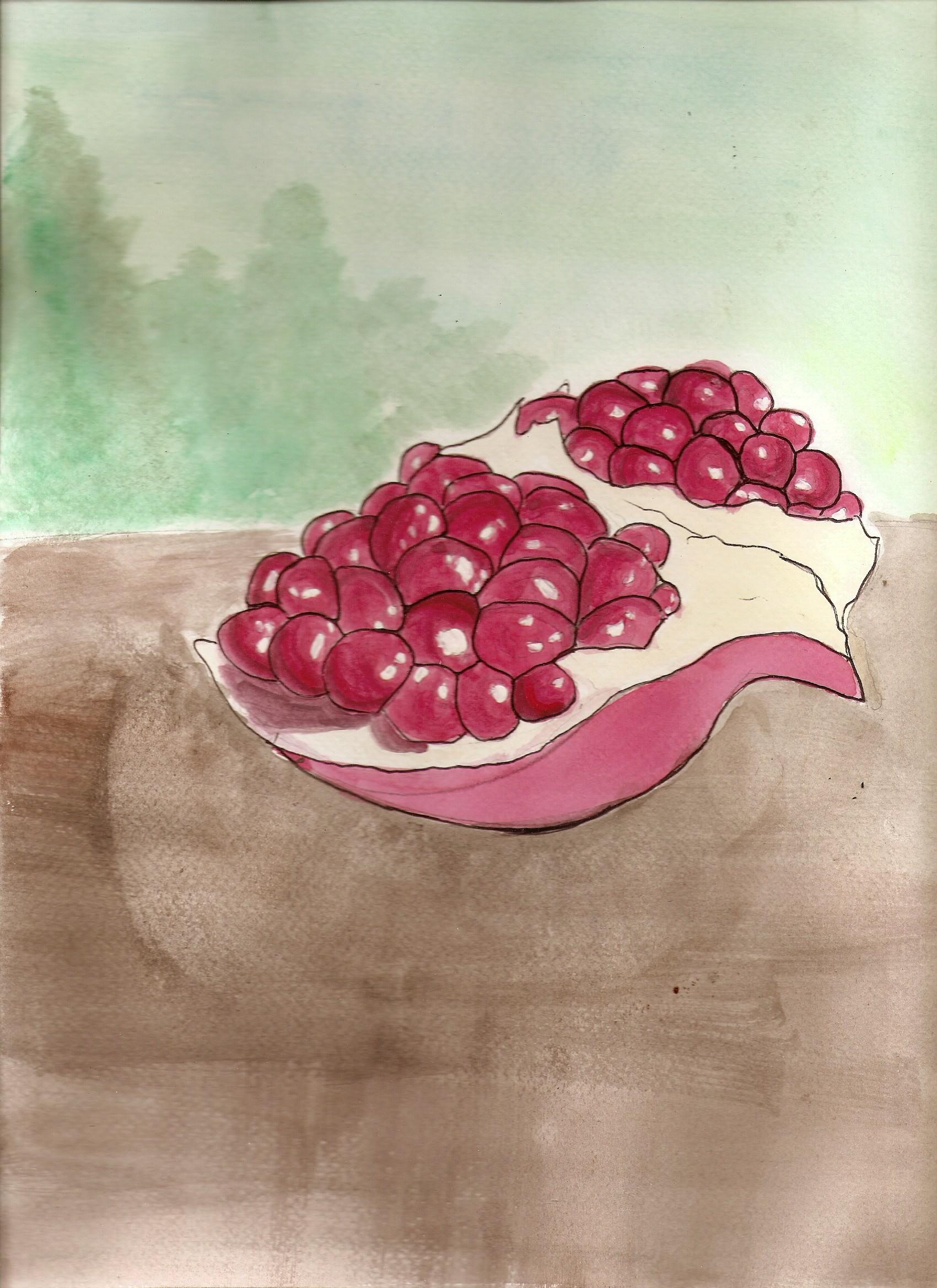 Masaüstü çizim Boyama Illüstrasyon Gıda Kırmızı Meyve Pembe