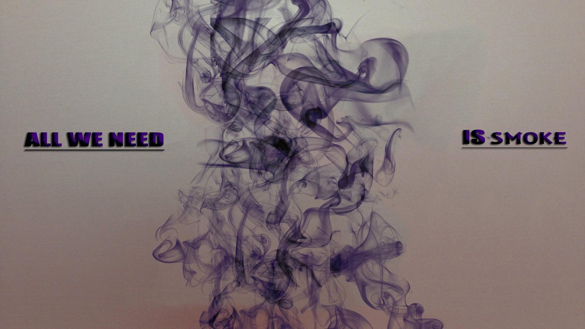 Wallpaper Gambar Lukisan Ilustrasi Minimalis Ungu Merokok