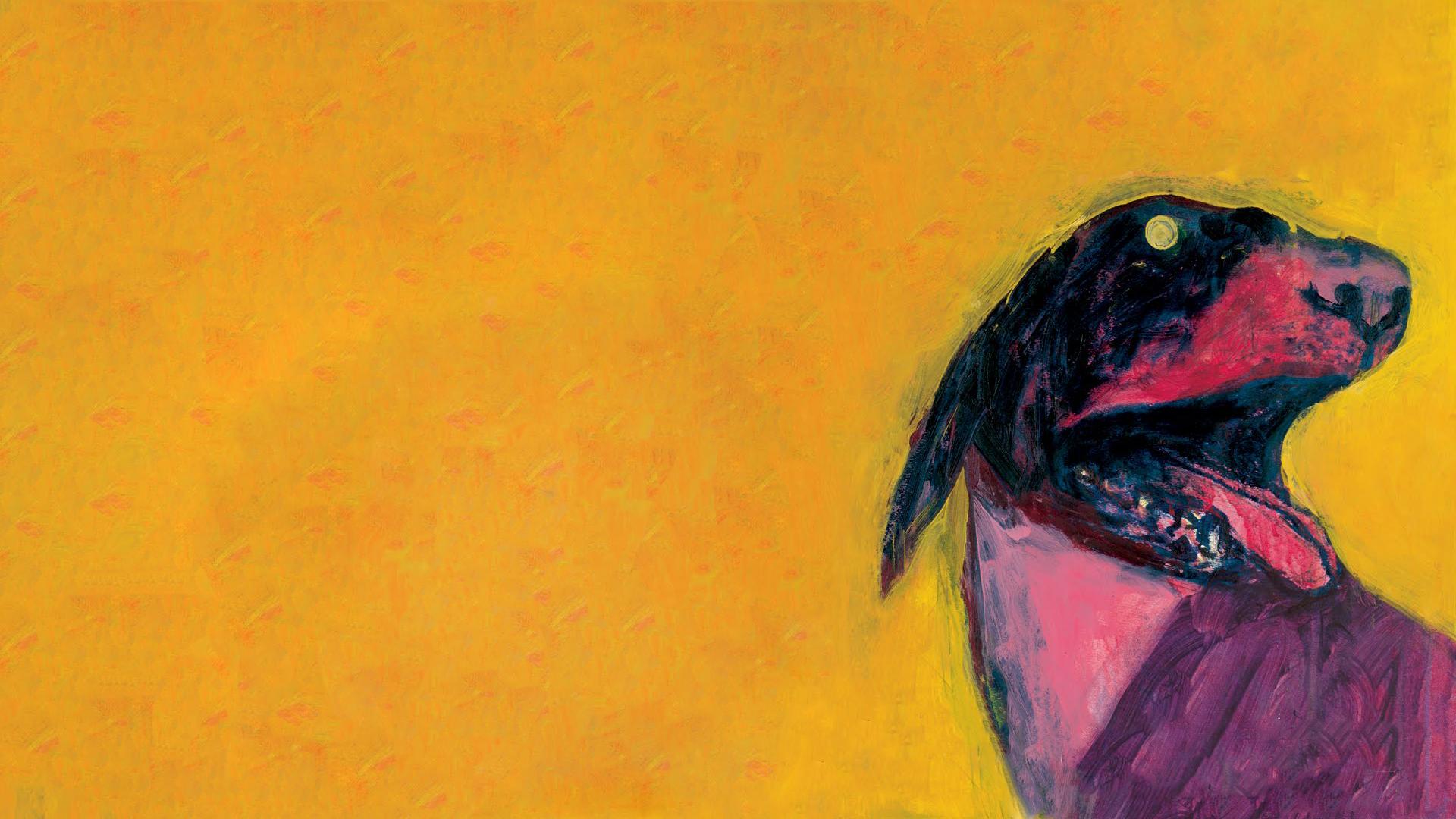 Masaüstü çizim Boyama Kırmızı Müzik Sarı Köpek Albüm