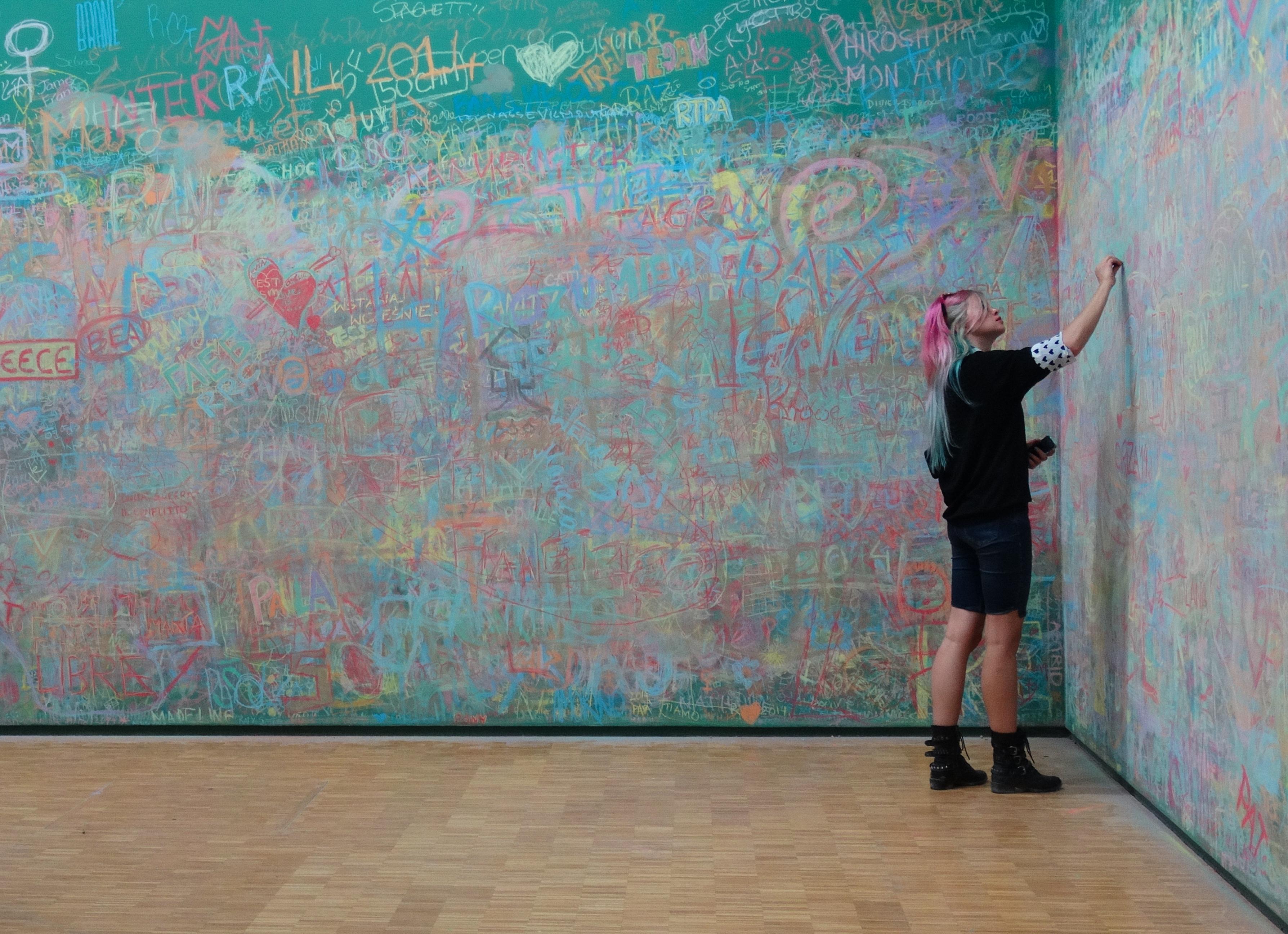Fondos de pantalla dibujo pared azul l neas francia - Pintura acrilica paredes ...