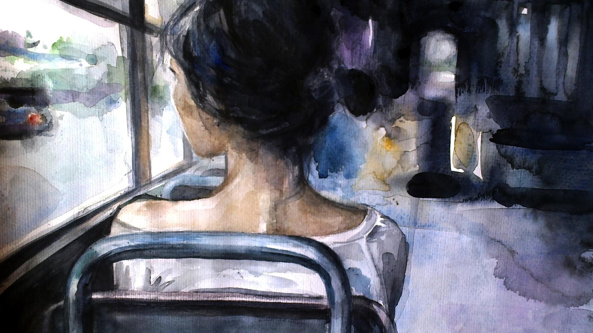 танк, рисунки про одиночество красками меньше работа