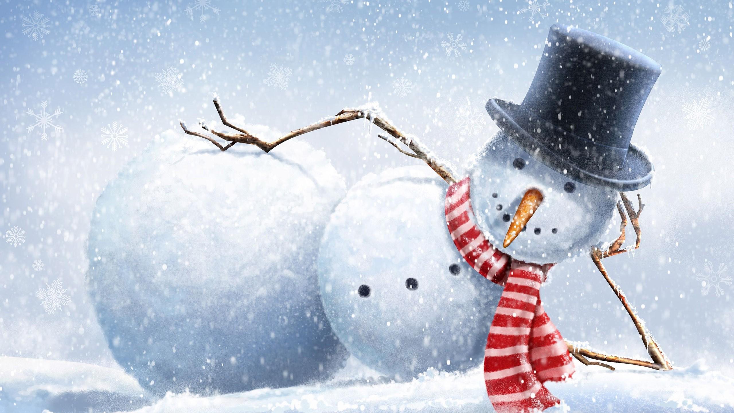 Wallpaper drawing snow winter branch snowman snowflakes top drawing snow winter branch snowman snowflakes top hats freezing carrots weather season 2560x1440 px voltagebd Gallery