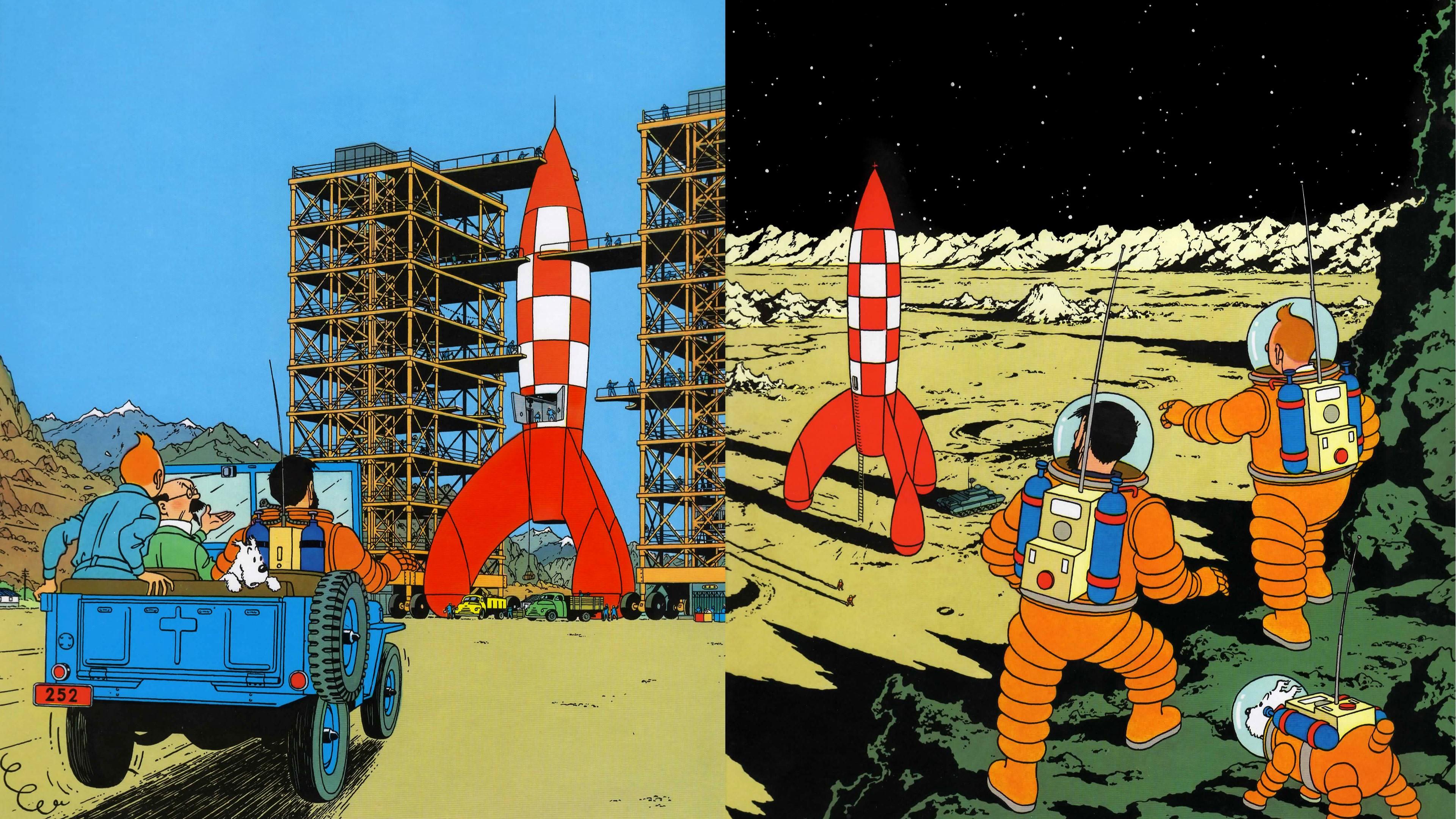 Fond d 39 cran dessin v hicule tintin fus e couverture - Tintin gratuit ...