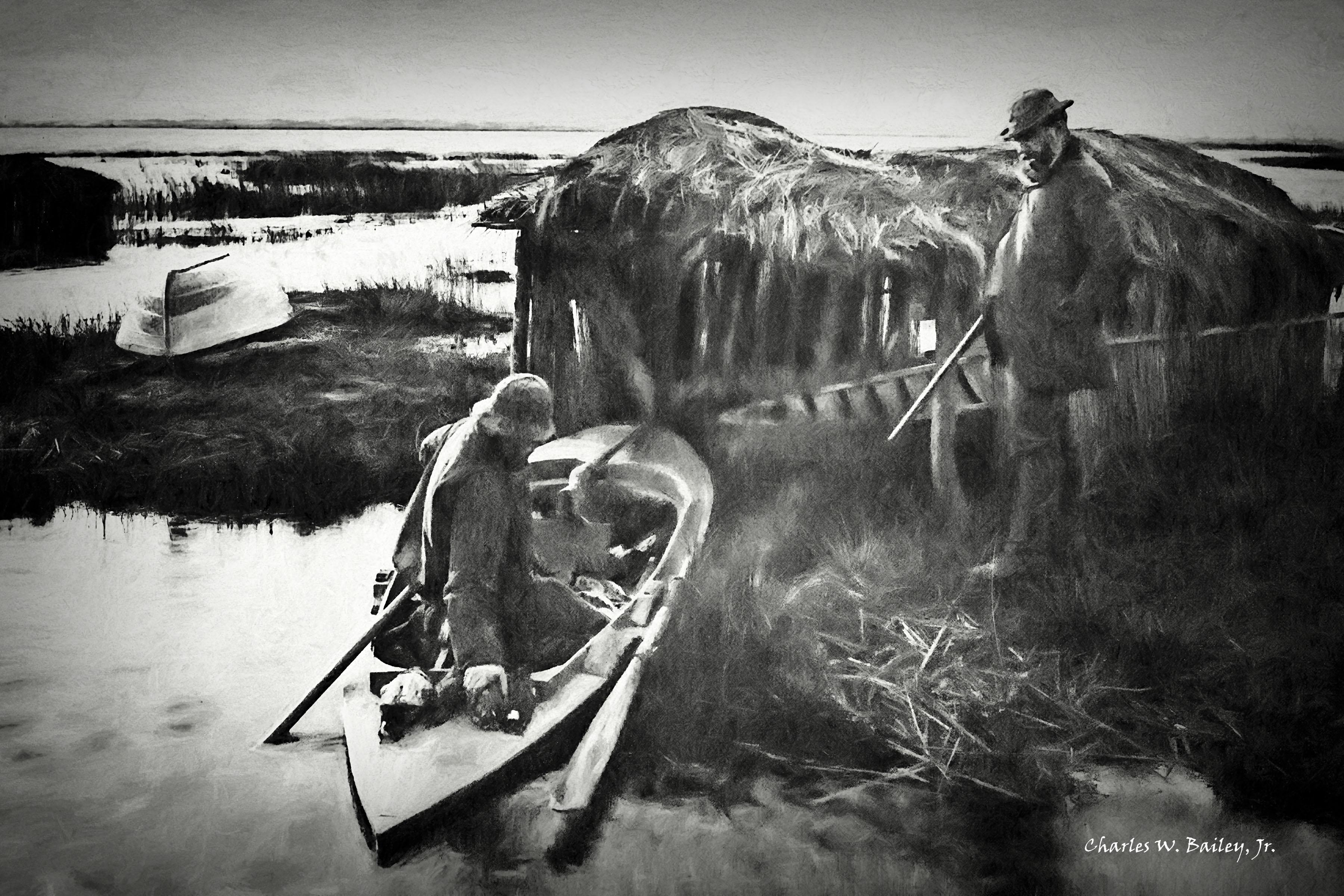 Wallpaper : drawing, Photoshop, boat, birds, lake, vehicle
