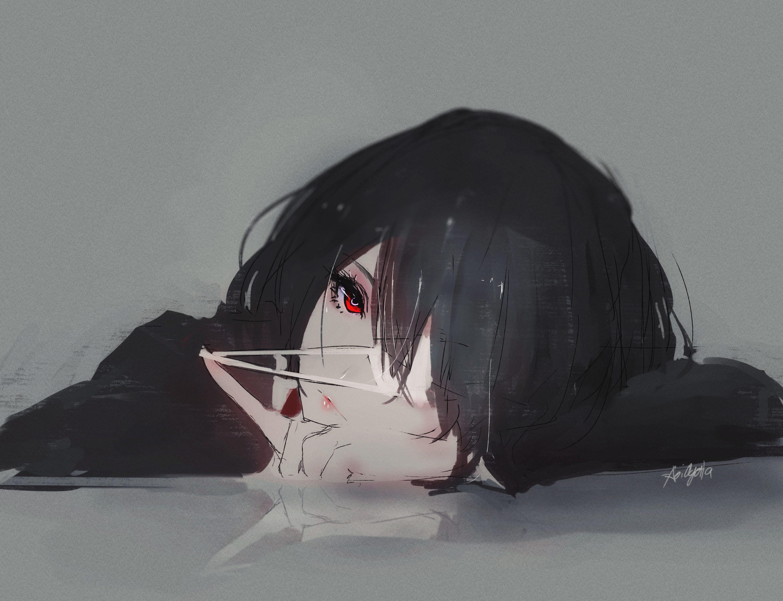 Аниме девушки грусть боль