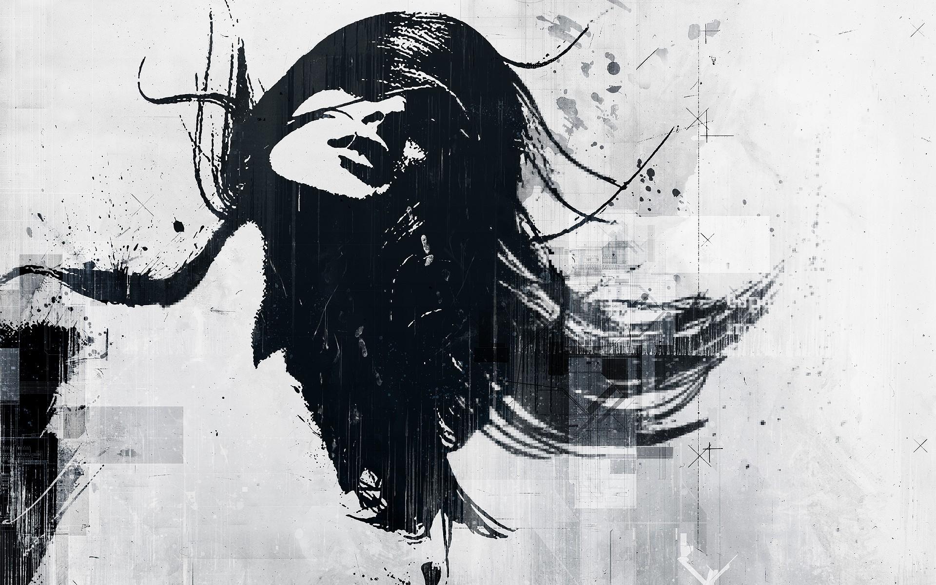 Fond D Ecran Dessin Illustration Femmes Monochrome