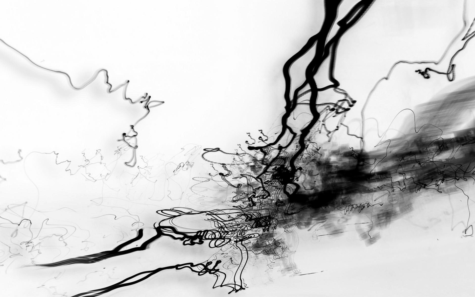 Fond D écran Dessin Illustration Monochrome Abstrait Hiver