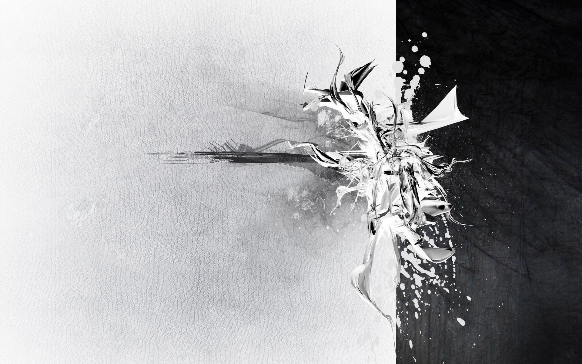 Белая абстракция картинки