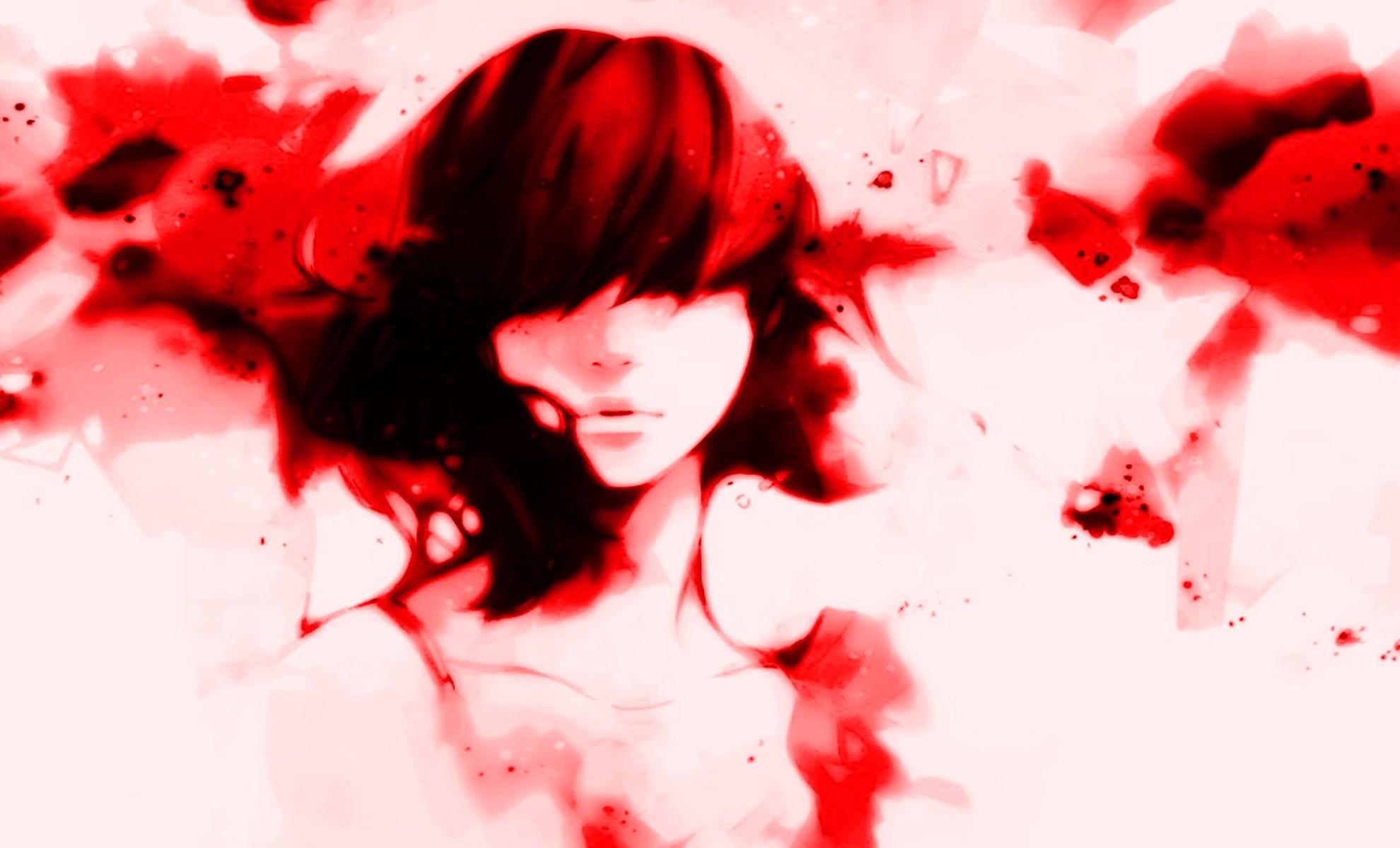 Fond Décran Dessin Blanc Femmes Amour Rouge Rose