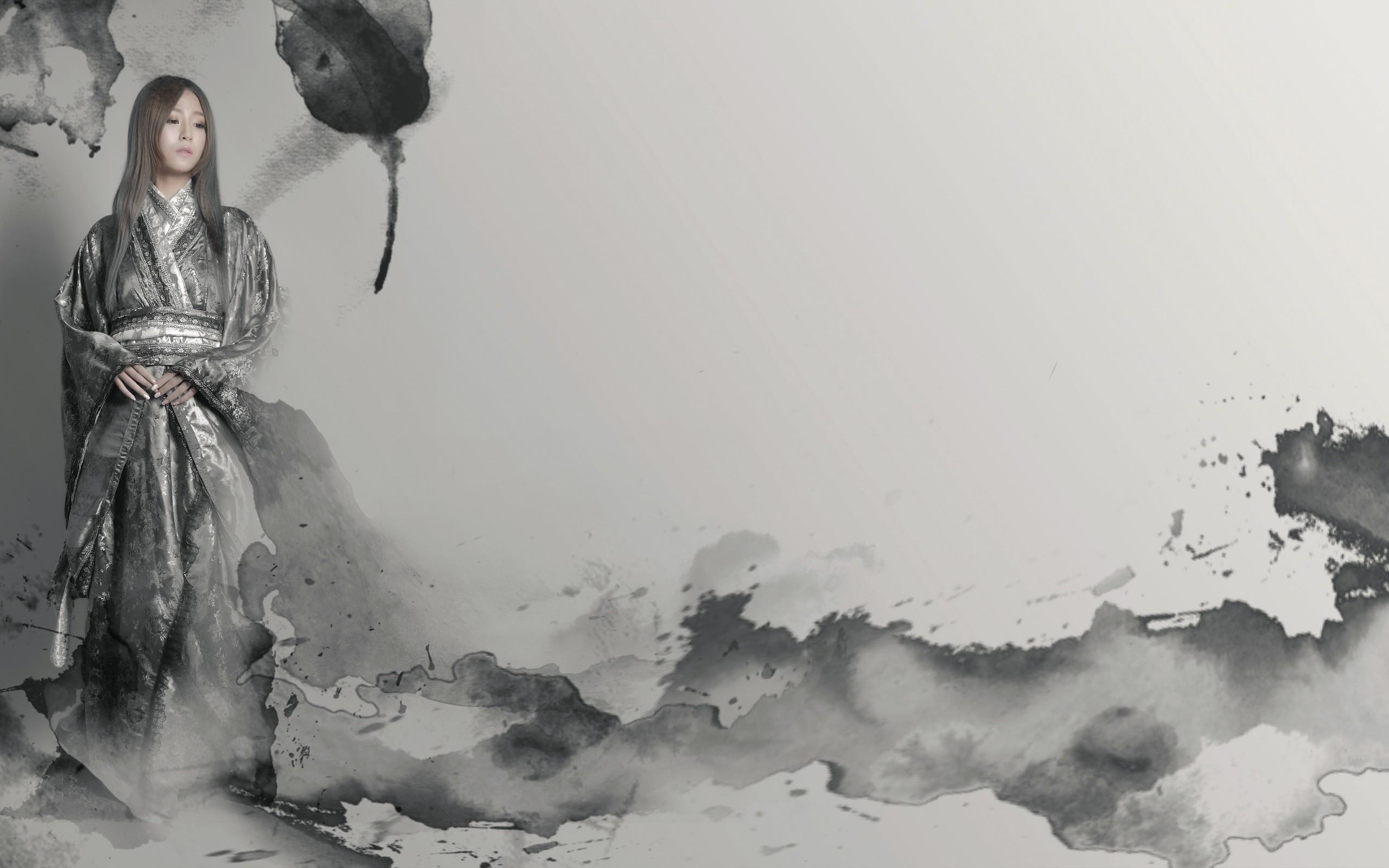 Fond D Ecran Dessin Femmes Monochrome Maquette Neige