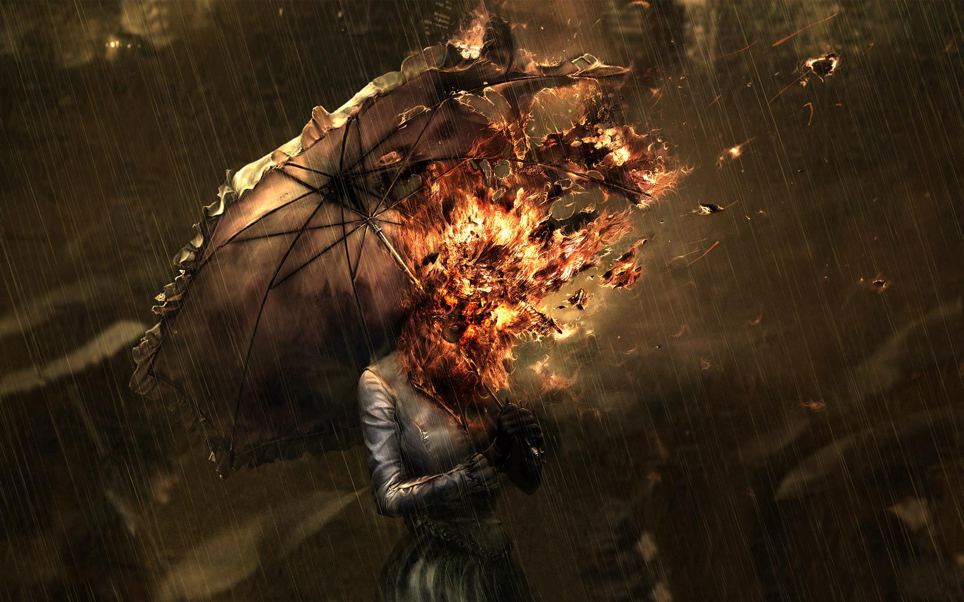 Wallpaper Drawing Women Anime Rain Umbrella Fire Demon Mythology Darkness Screenshot 1920x1200 Px Computer Wallpaper Special Effects Pc Game Adventurer Cg Artwork Visual Effects 1920x1200 Wallhaven 799120 Hd Wallpapers Wallhere