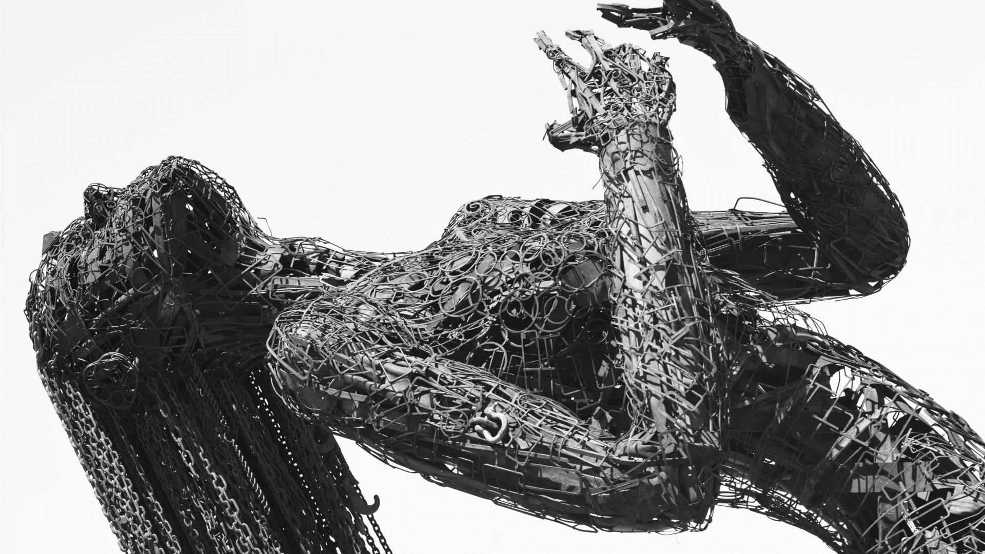 Fond D Ecran Dessin Femmes Monochrome Metal Sculpture
